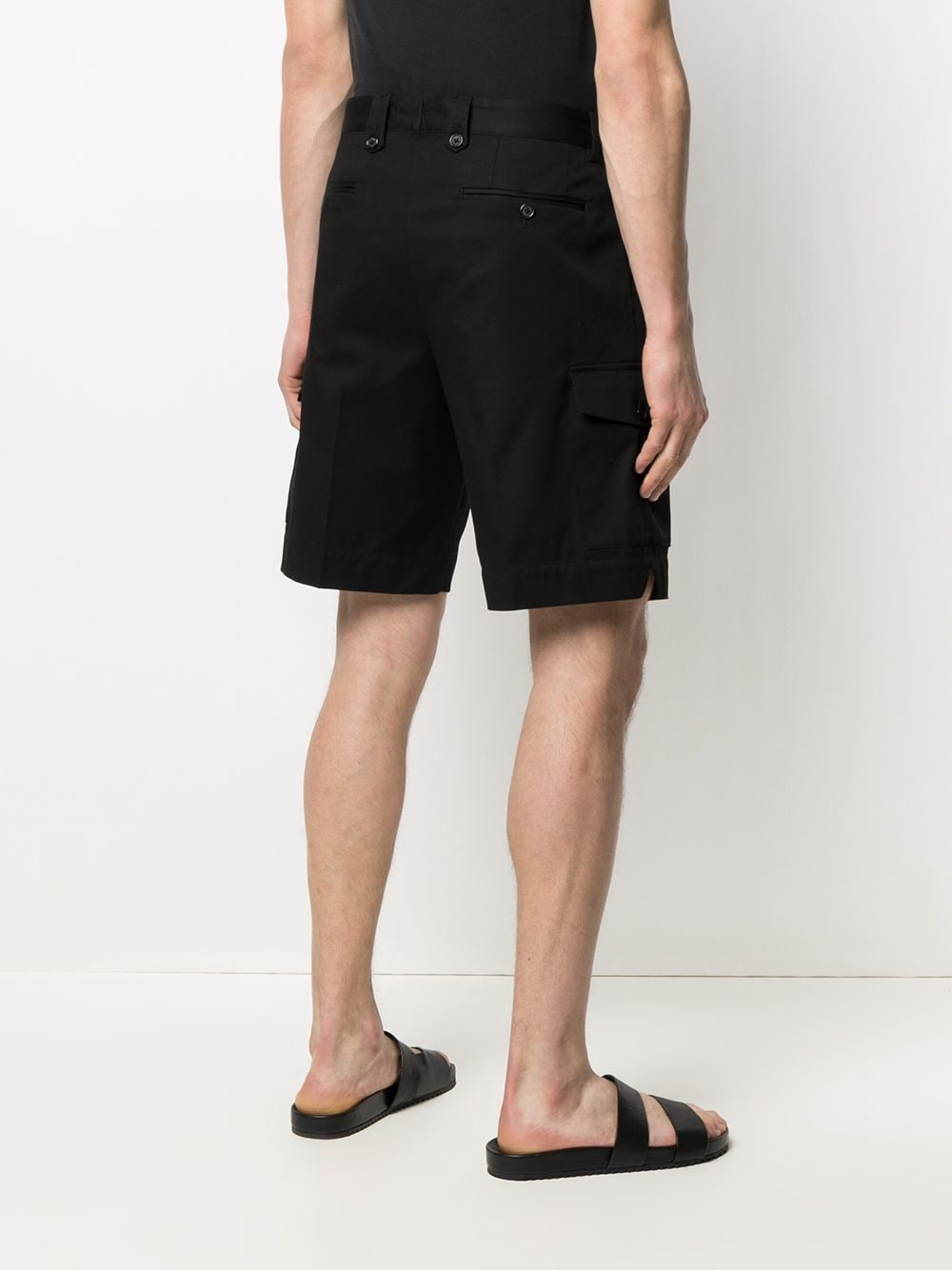 Black stretch cotton high-rise cargo shorts   DOLCE & GABBANA |  | GW3JAT-FUFJUN0000
