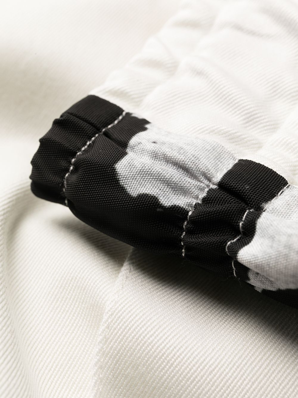 White and black cotton camouflage-print panelled track pants  DOLCE & GABBANA      GWKTAT-FUECXS9000