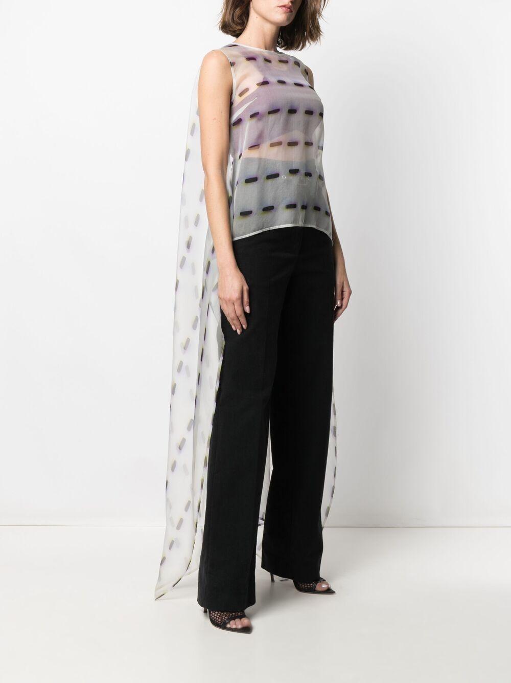 silk Cascade semi-sheer tail blouse  DRIES VAN NOTEN |  | CASCADE-2085-10744001