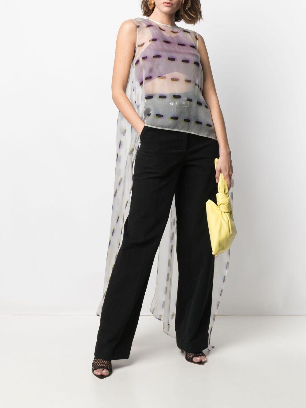 blusa a coda semitrasparente Cascade in seta DRIES VAN NOTEN | Camicie | CASCADE-2085-10744001