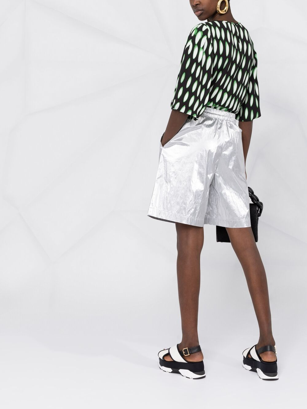 Black and green Len Lye graphic-print top  DRIES VAN NOTEN |  | CEAN-2010-10753900