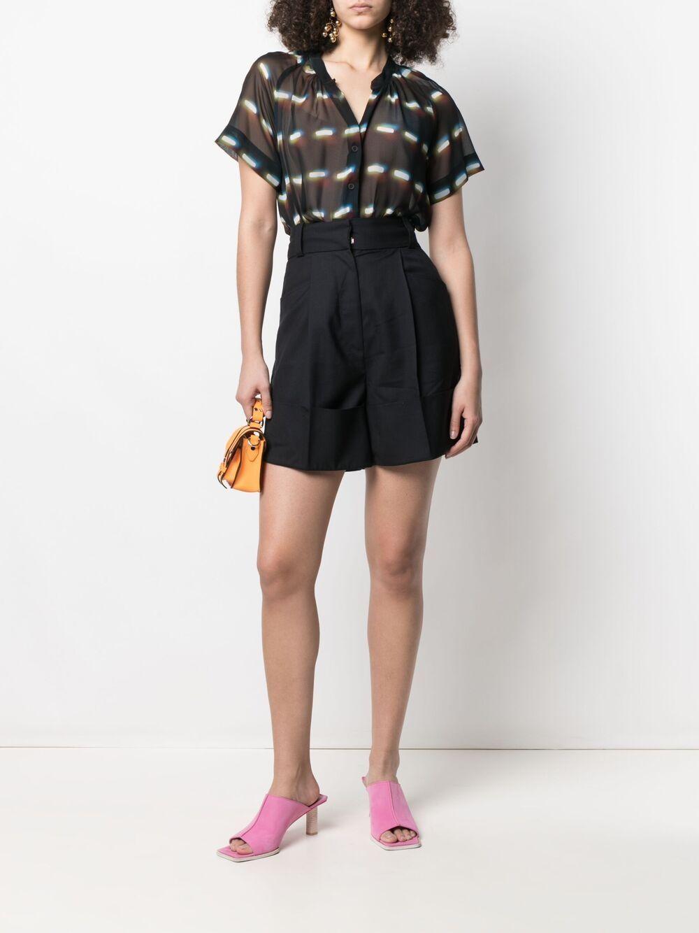 Black and blue silk abstract print blouse DRIES VAN NOTEN |  | CHEN-2088-10767900
