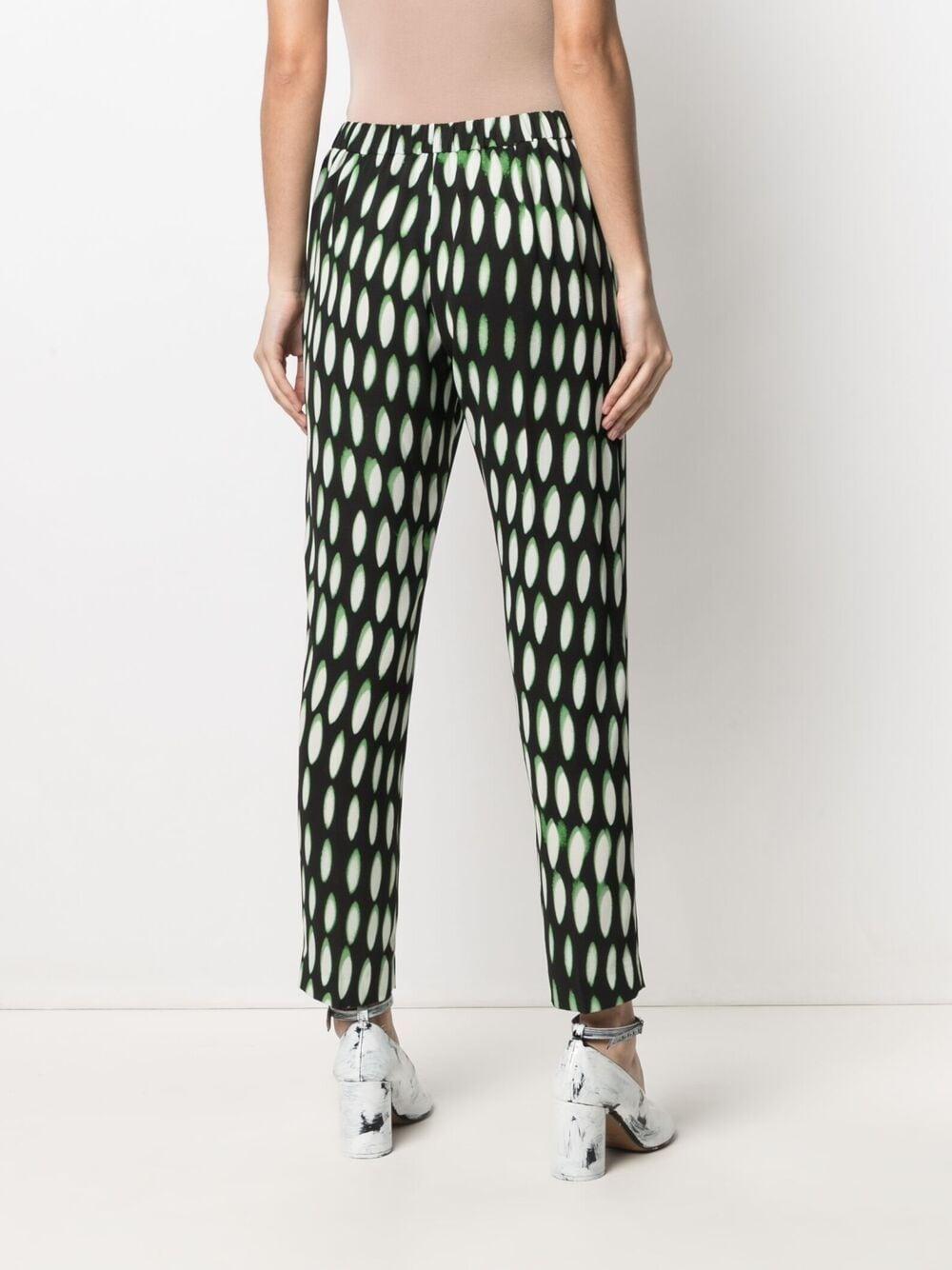 Black and green silk abstract-print silk trousers   DRIES VAN NOTEN |  | PALMIRA-2010-10909900