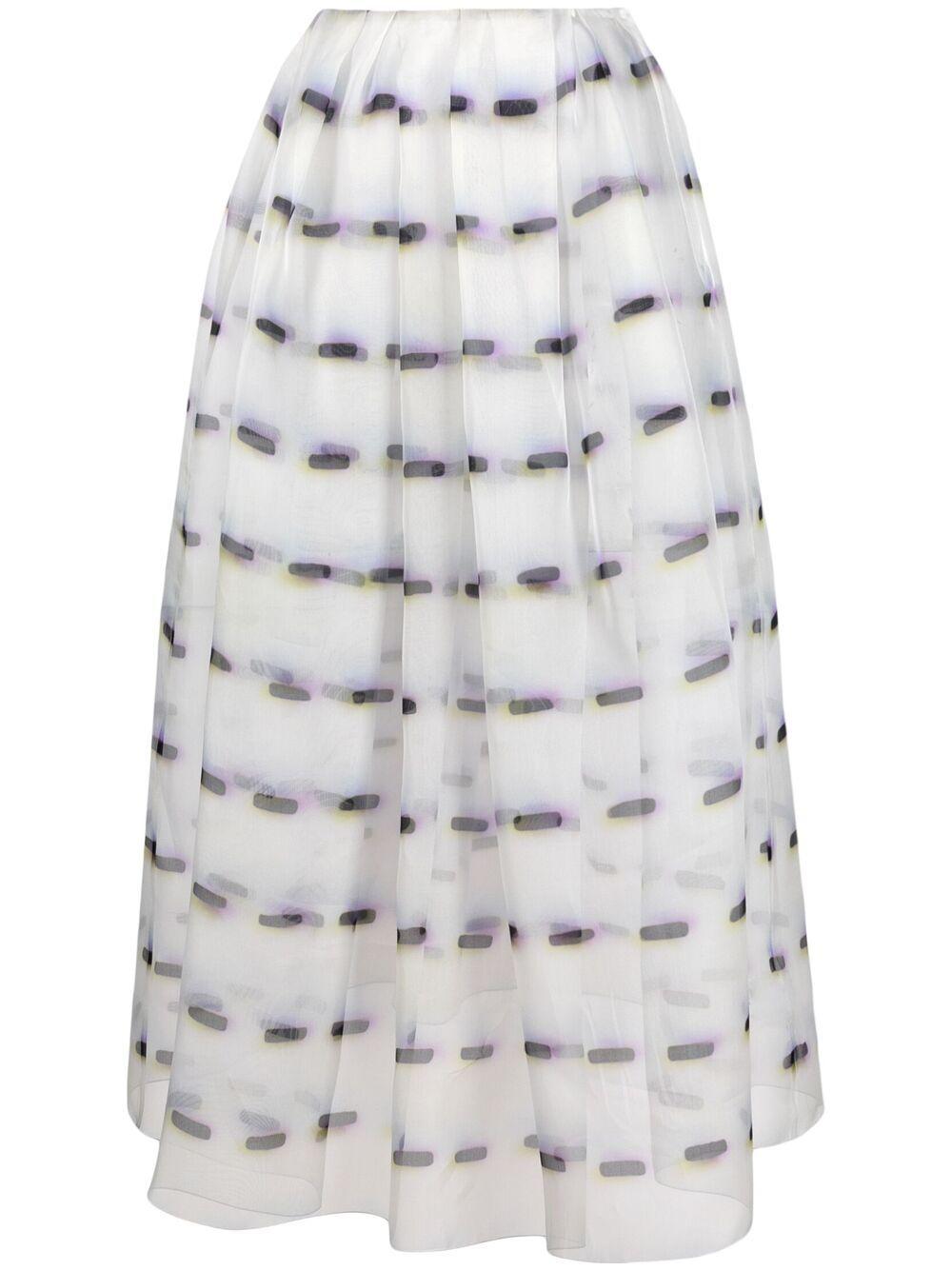 White silk layered high-waisted skirt  DRIES VAN NOTEN |  | SAKURA-2085-10803001
