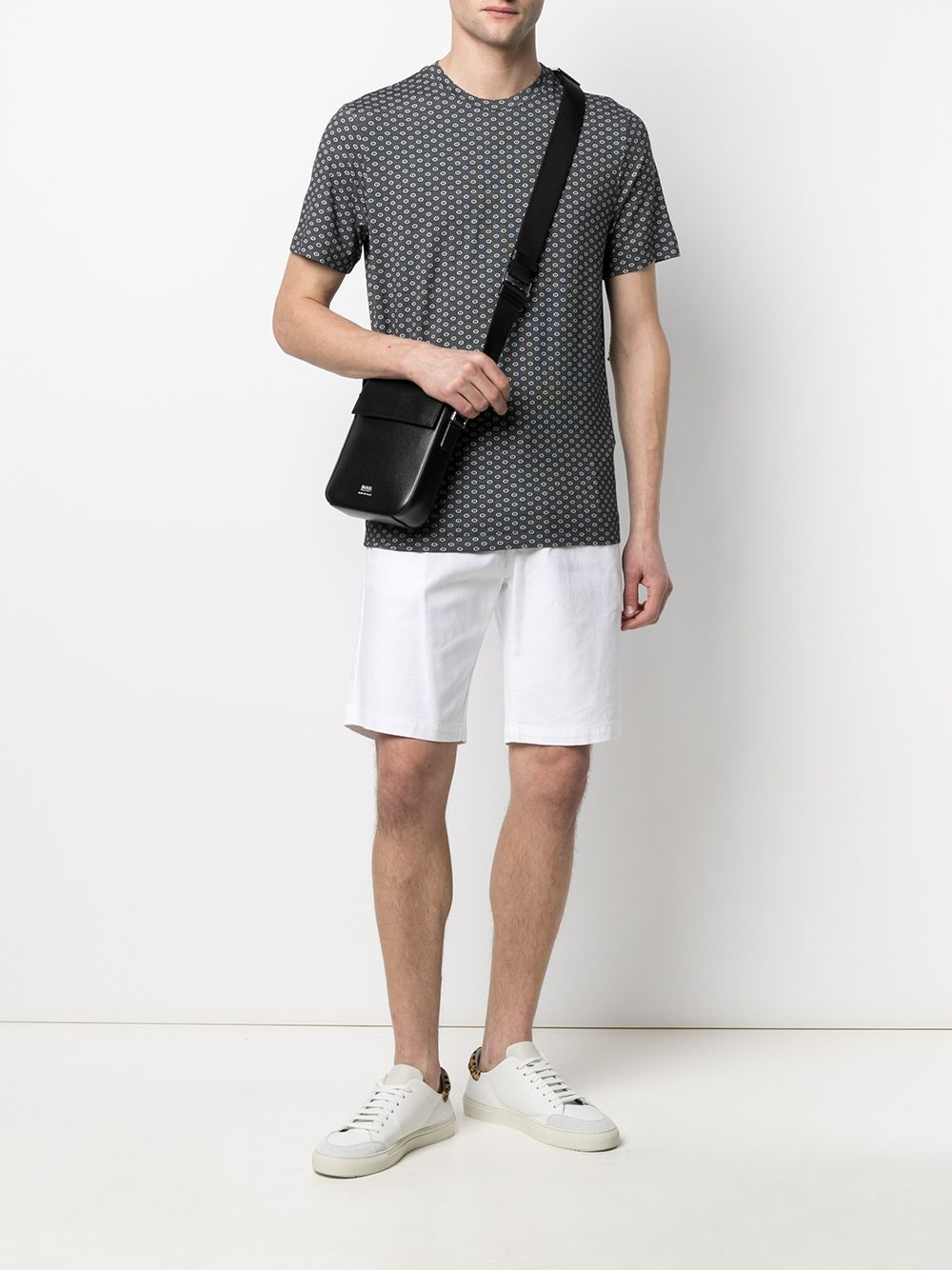 Pantaloncini con coulisse in cotone bianco a righe ELEVENTY | Bermuda | C70BERC01-TET0C02800