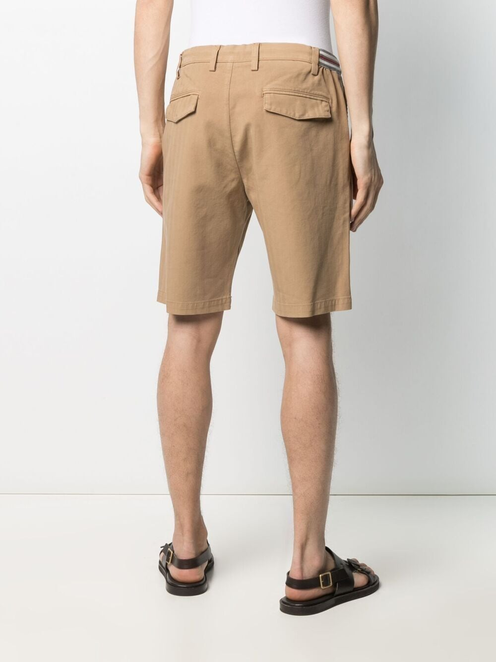 Pantaloncini con coulisse in cotone beige ELEVENTY | Bermuda | C70BERC01-TET0C02804