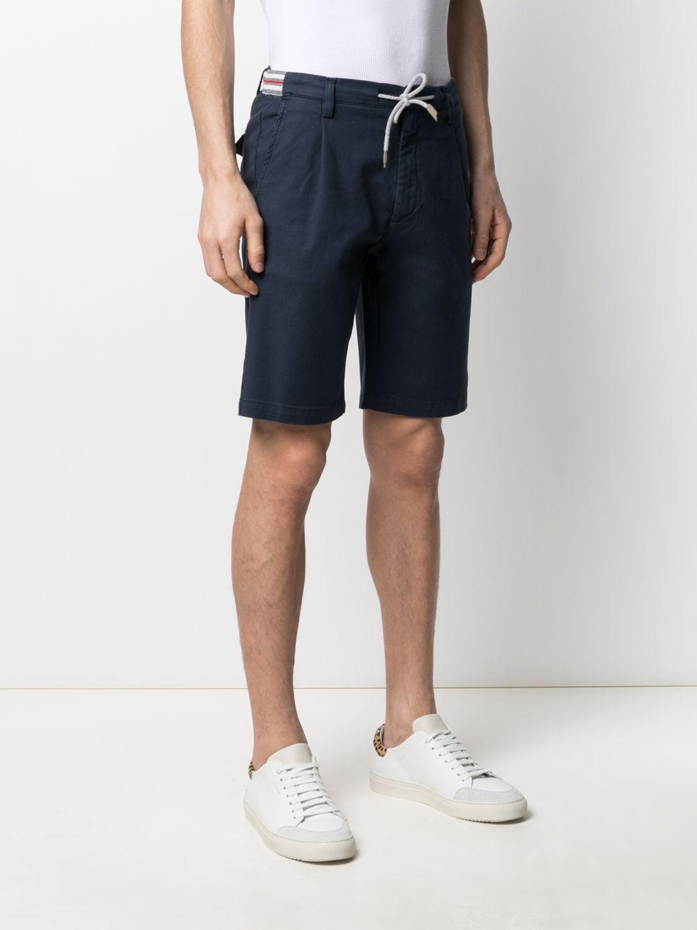 Pantaloncini chino blu in misto cotone con coulisse bianca ELEVENTY | Bermuda | C70BERC01-TET0C02811
