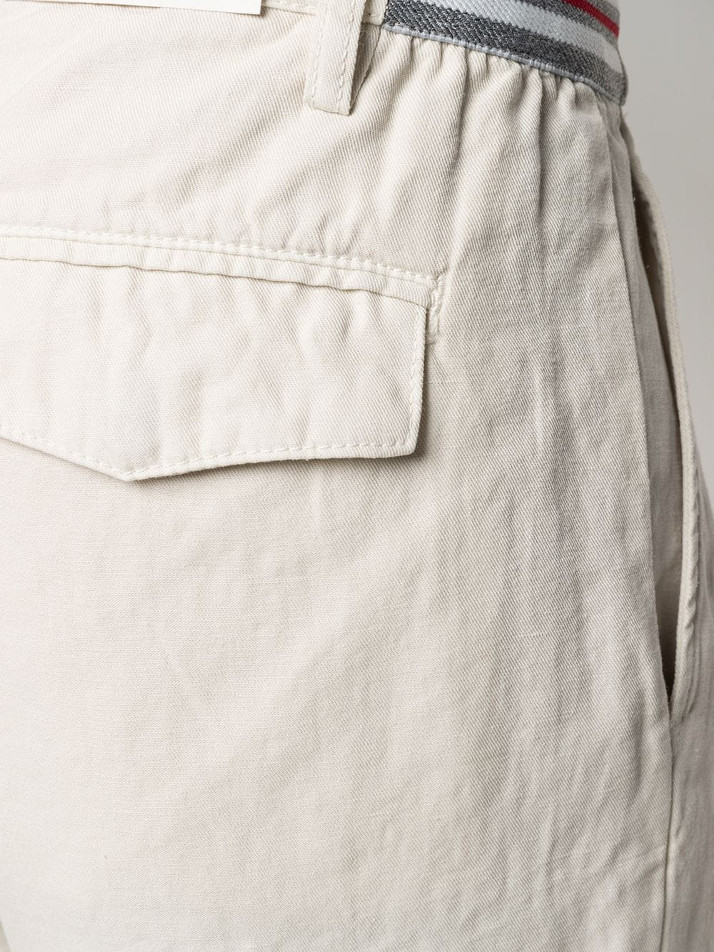 Off-white linen and cotton drawstring waist shorts  ELEVENTY |  | C70BERC01-TET0C02902
