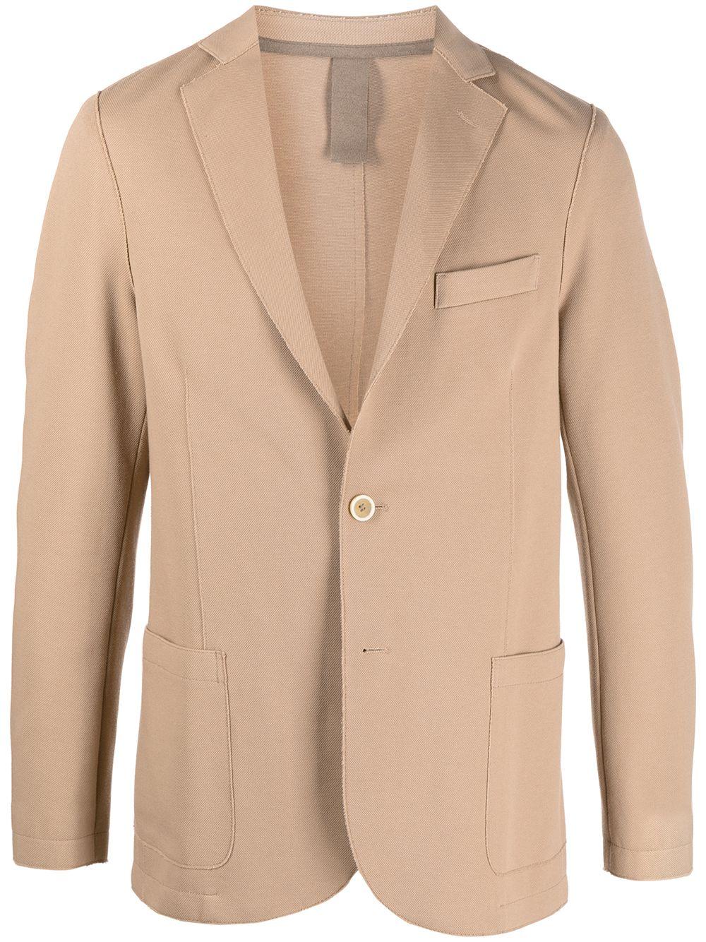 Beige cotton-blend notch-lapel single-breasted blazer  ELEVENTY |  | C70GIAA01-JAC2500104