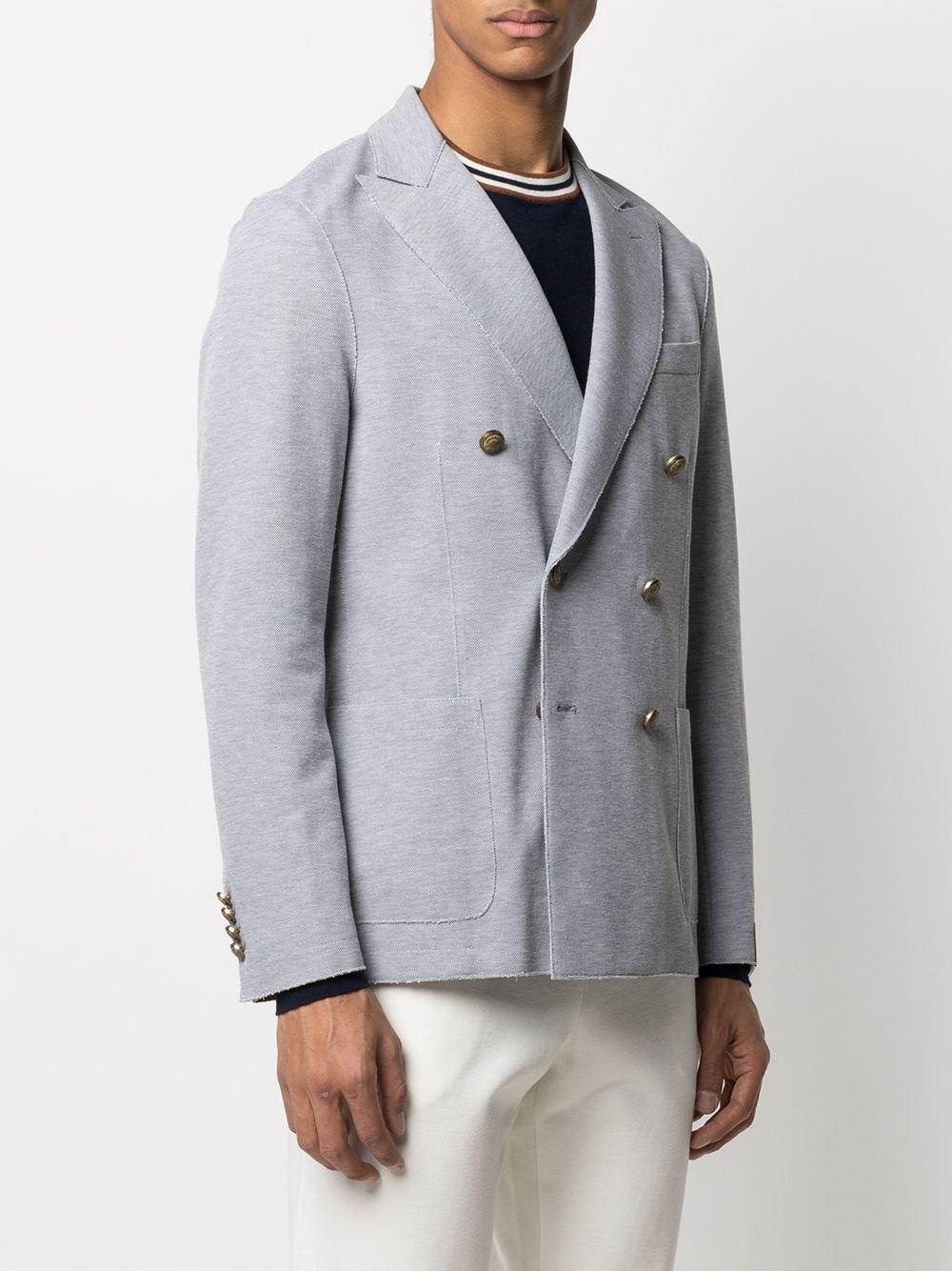 Balzer doppiopetto in cotone grigio con revers classici ELEVENTY | Giacche | C70GIAA02-JAC2302113