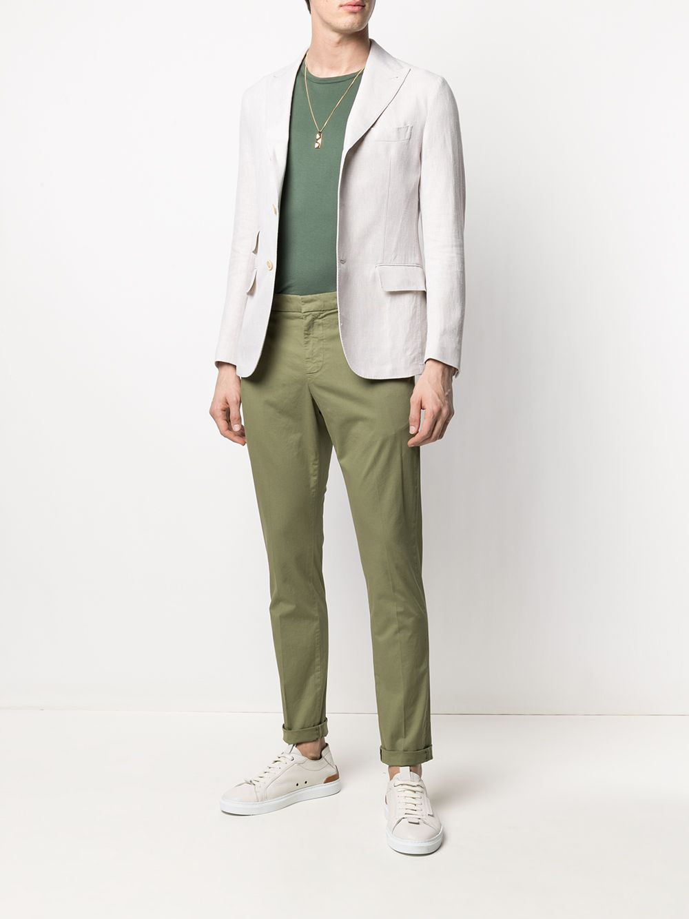 Off white linen and cotton single-breasted blazer   ELEVENTY |  | C70GIAB04-TES0A04300
