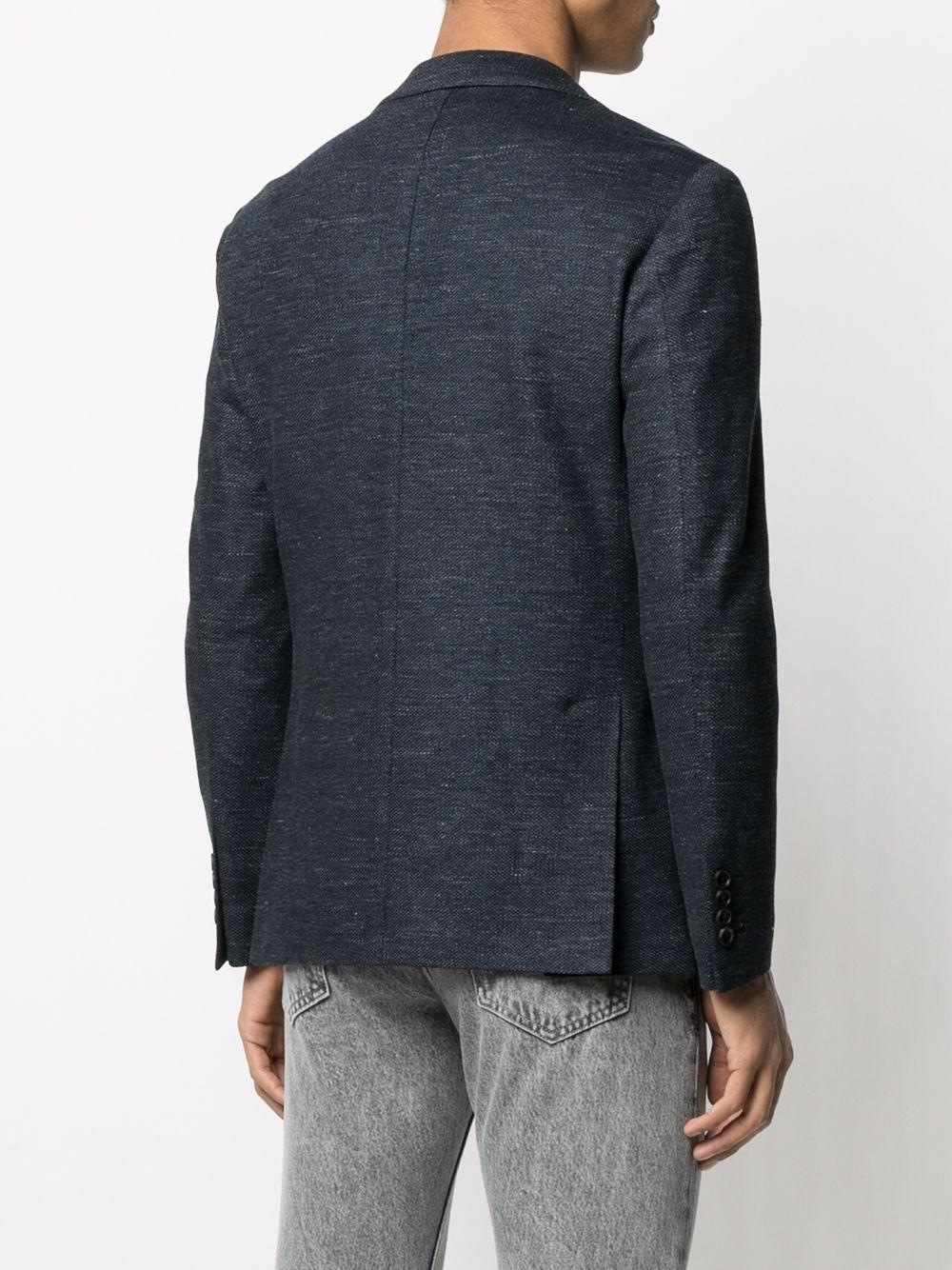 Giacca monopetto in misto cotone e lino blu ELEVENTY | Giacche | C70GIAB04-TES0C11711