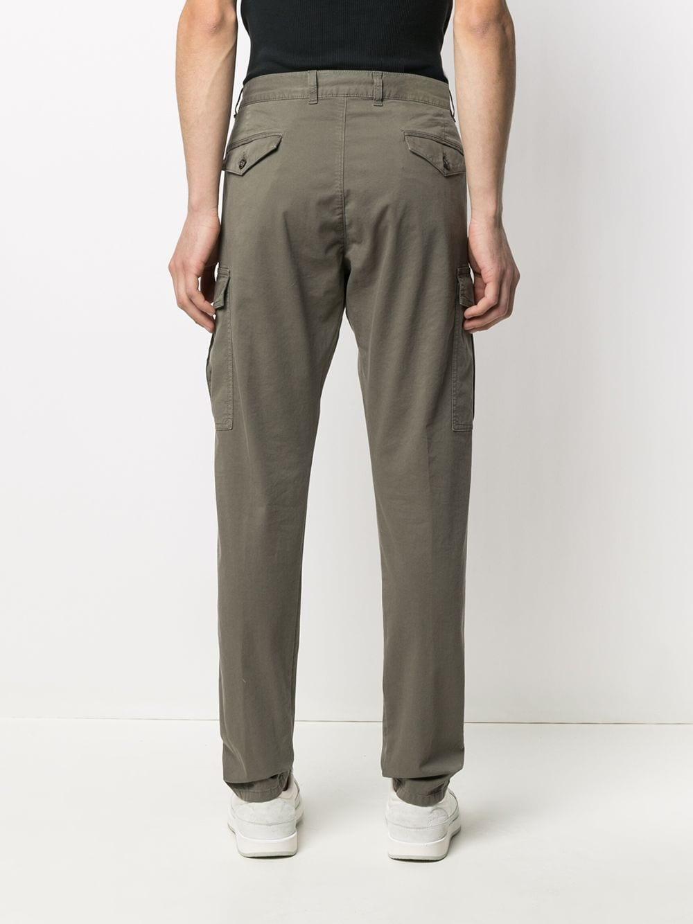 Pantaloni chino slim fit in cotone elasticizzato verde ELEVENTY | Pantaloni | C70PANB05-TET0C00807