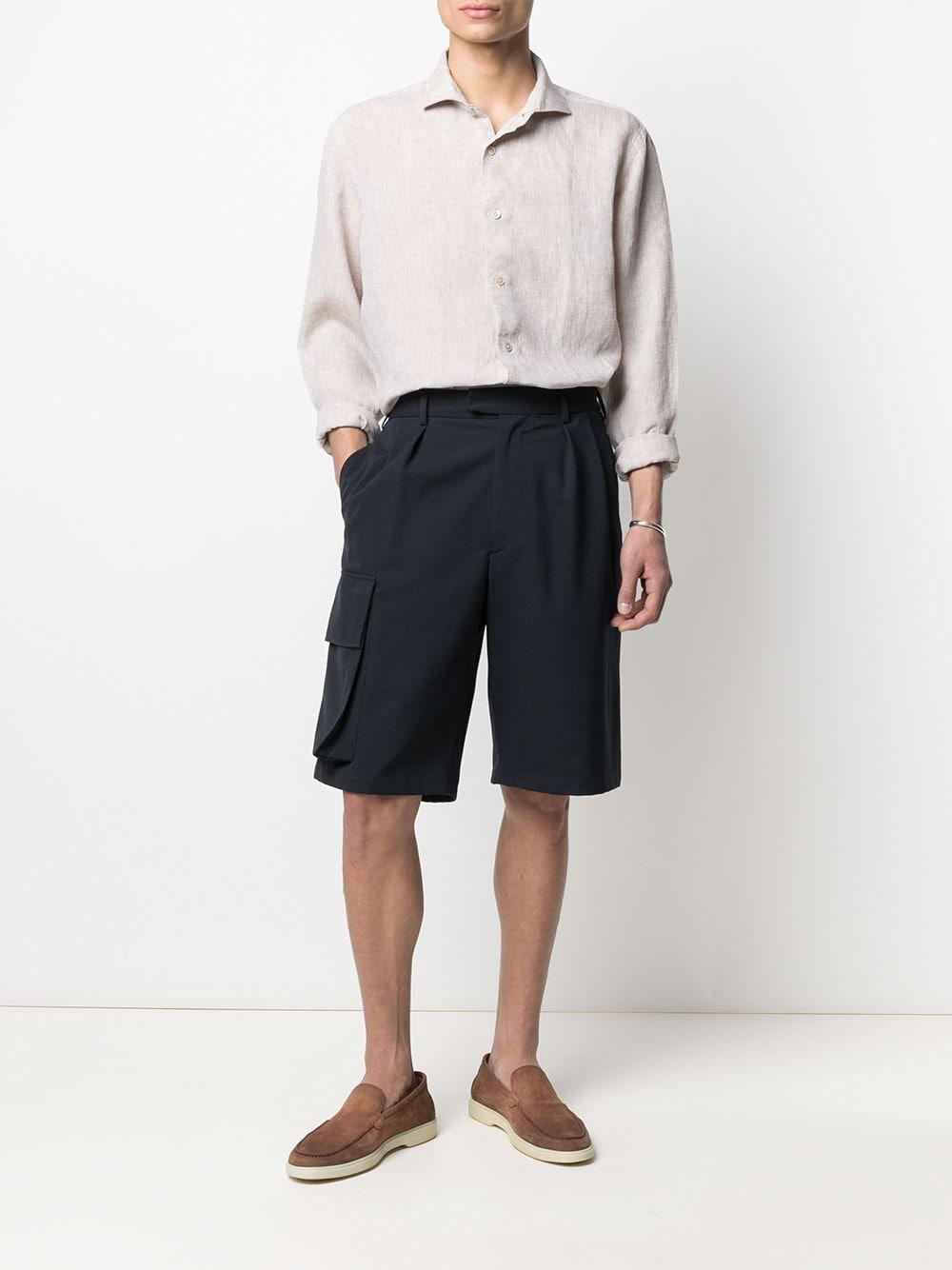 Camicia a maniche lunghe in lino color sabbia ELEVENTY | Camicie | C75CAMA05-TES0A00102
