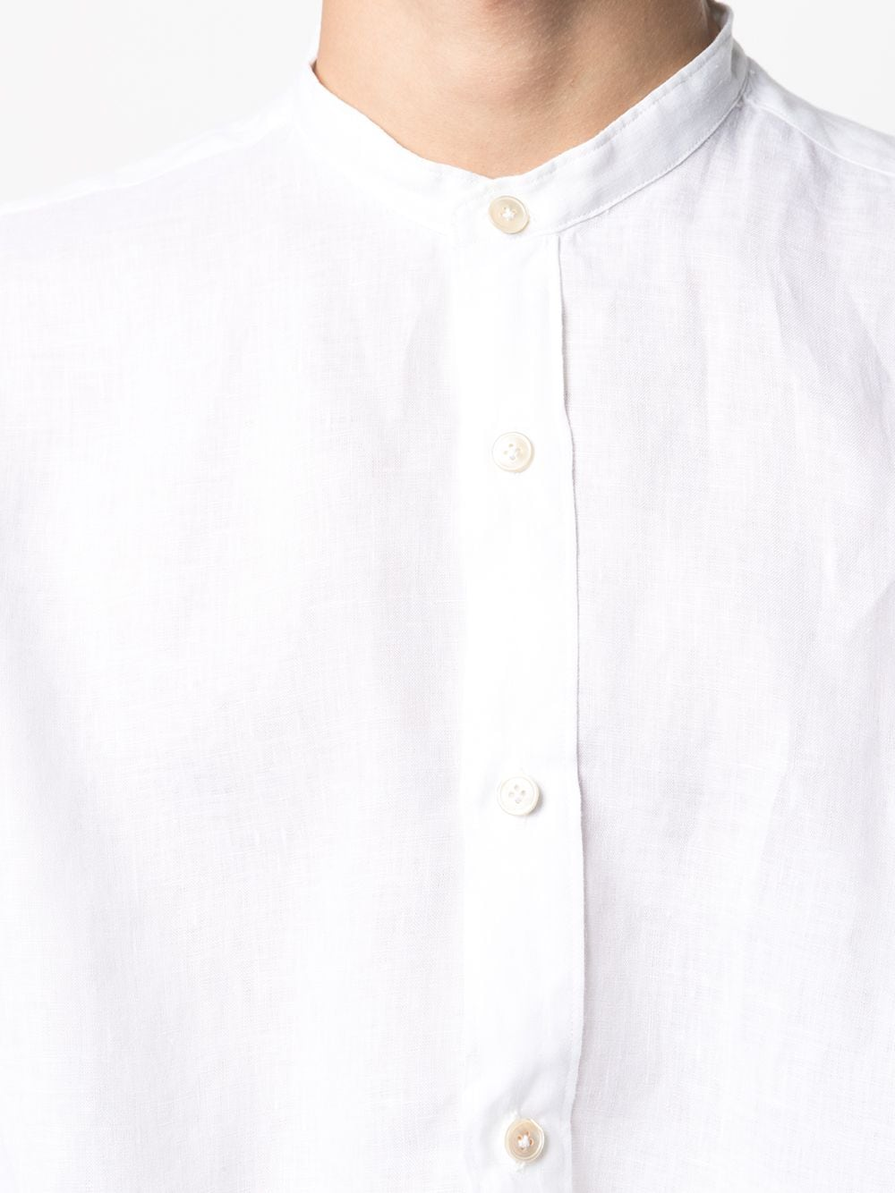 White linen shirt featuring band collar ELEVENTY      C75CAMA10-TES0A00101