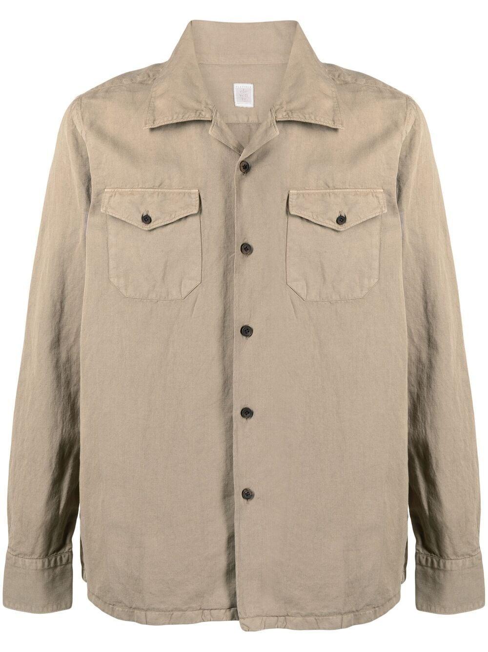 Khaki-beige cotton long-sleeved cotton shirt  ELEVENTY |  | C75CAMC05-TES0C01202