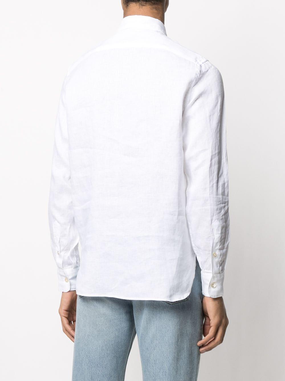 White linen shirt featuring henley neck ELEVENTY |  | C75CAMC08-TES0A00101