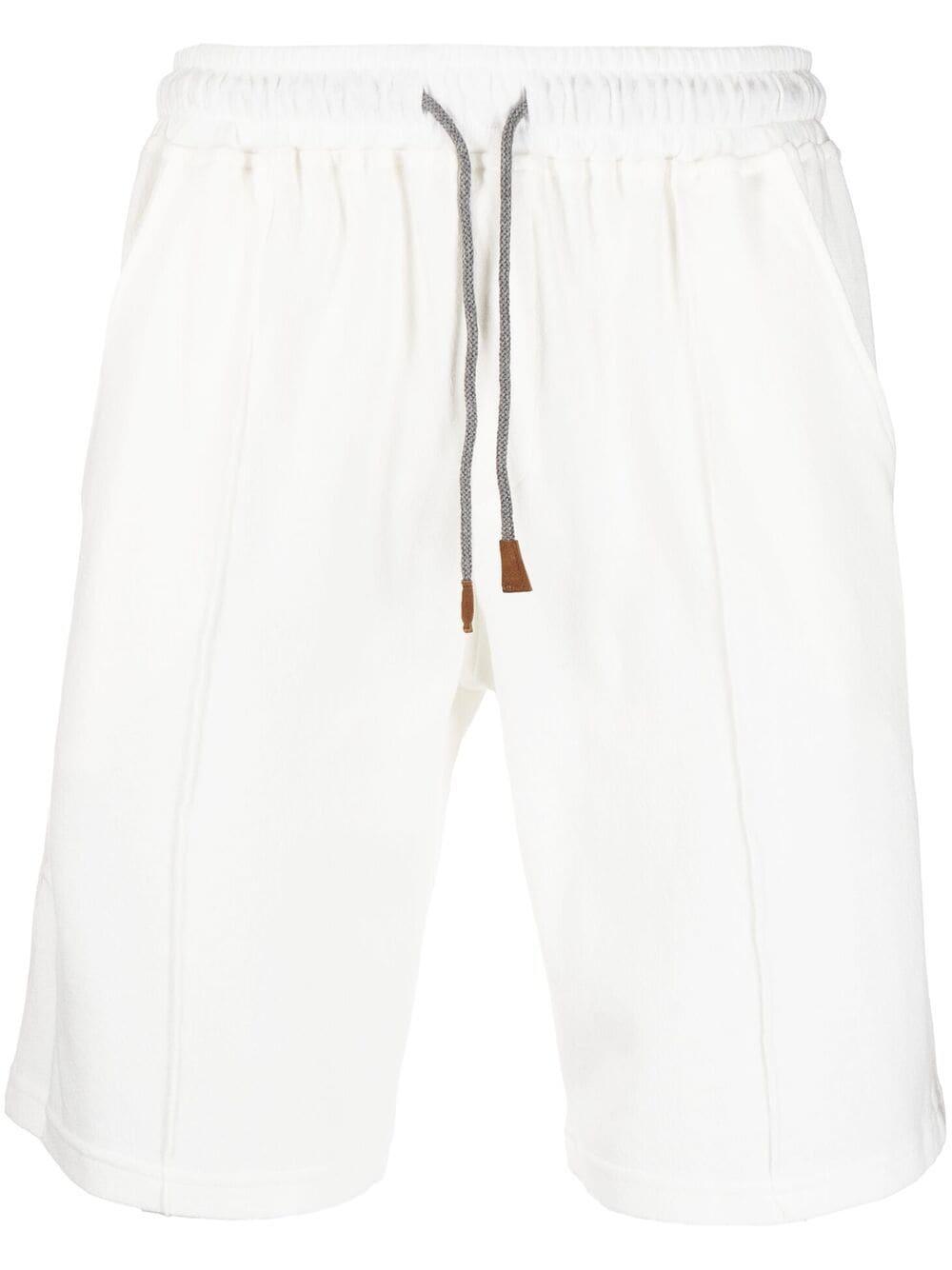 Pantaloncini in cotone a righe bianche, beige e rosse ELEVENTY   Bermuda   C75FELC07-TES0C17701