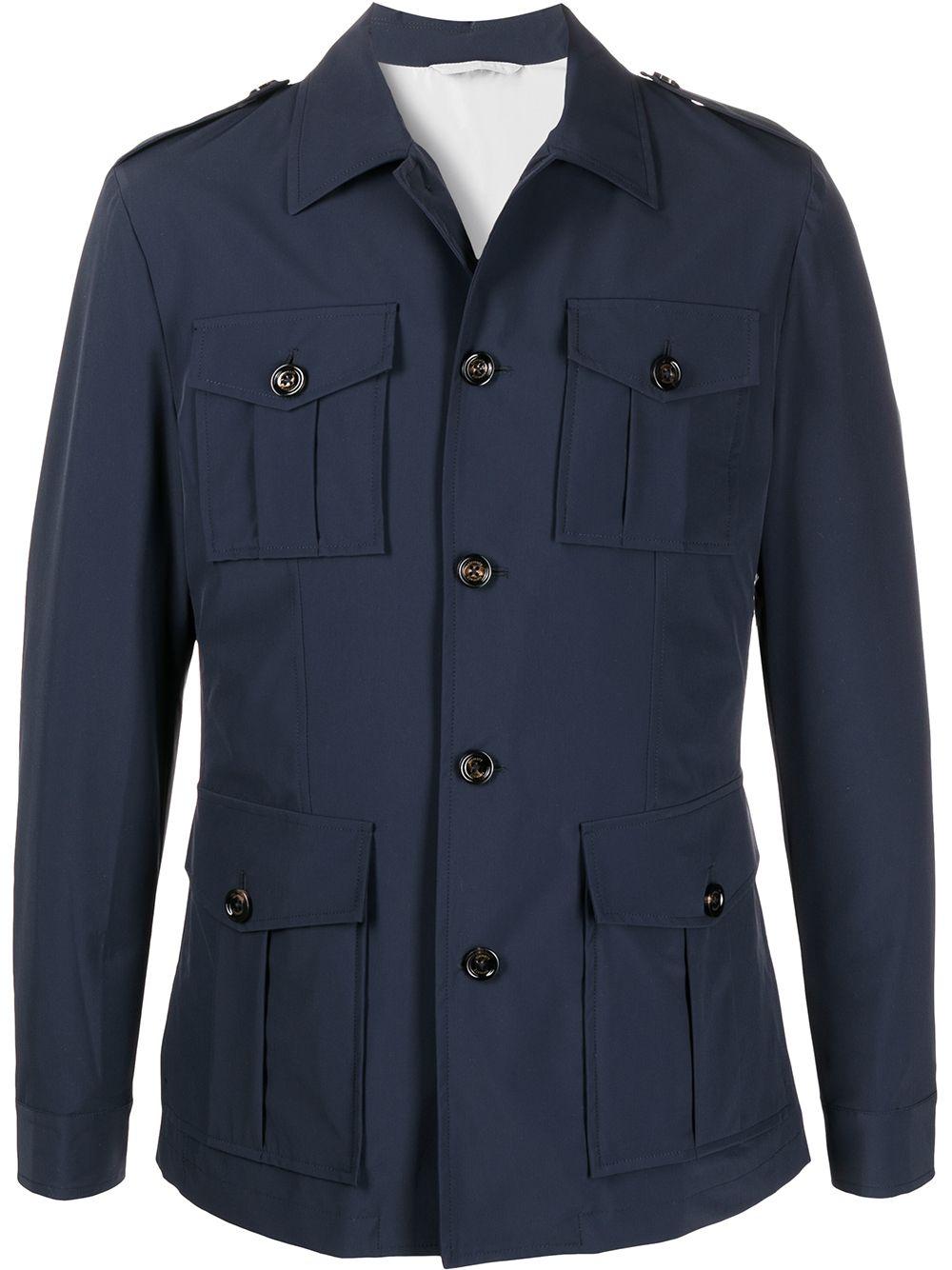Navy blue flap pocket jacket  ELEVENTY |  | C75GIAC01-TES0C19511