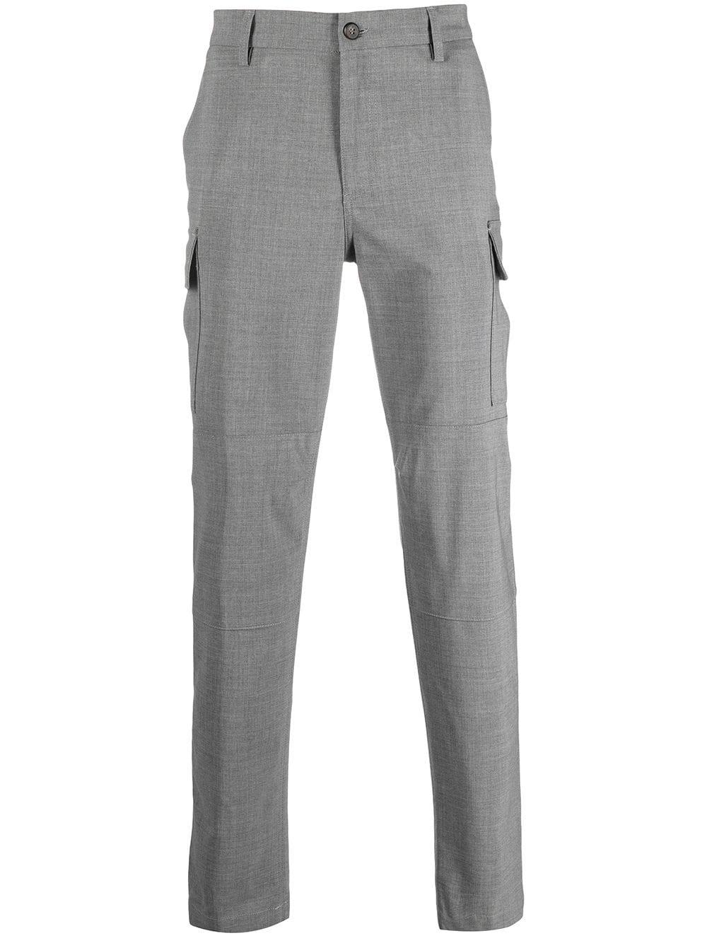 Pantaloni multitasche in lana grigia ELEVENTY | Pantaloni | C75PANA15-TES0A05313
