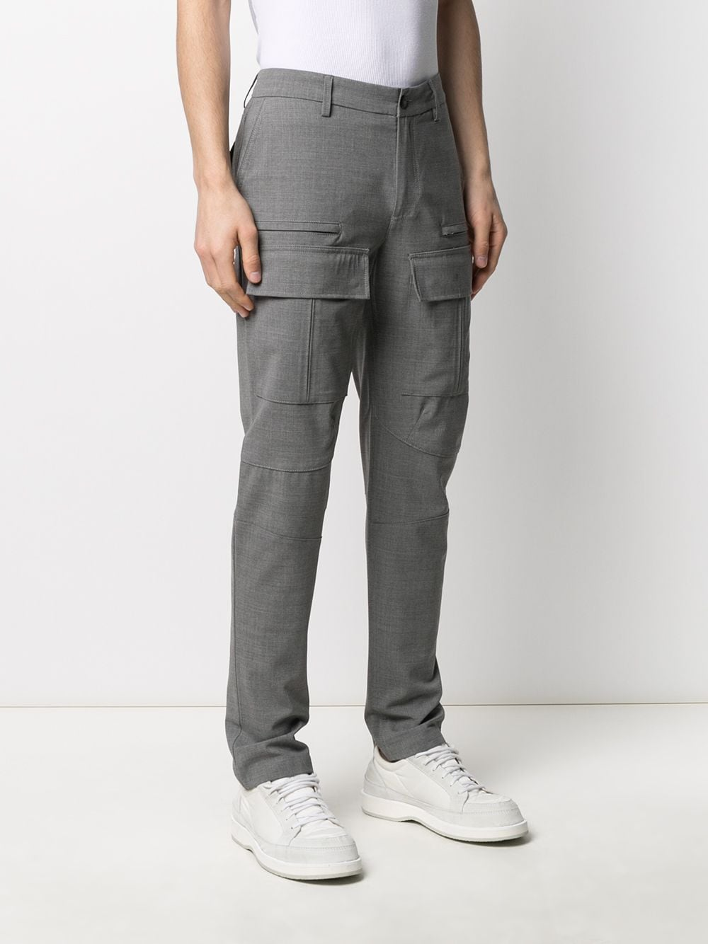 Pantaloni in misto lana grigia ELEVENTY | Pantaloni | C75PANB03-TES0A05313