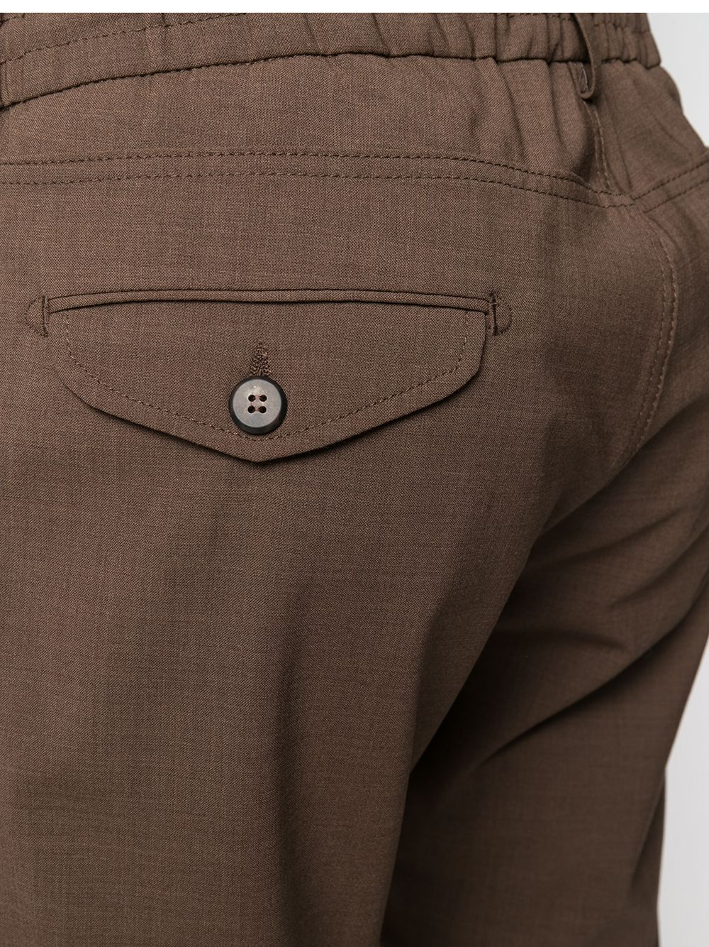 Pantaloni sartoriali marroni in misto lana con coulisse bianche ELEVENTY   Pantaloni   C75PANB21-TES0A05305