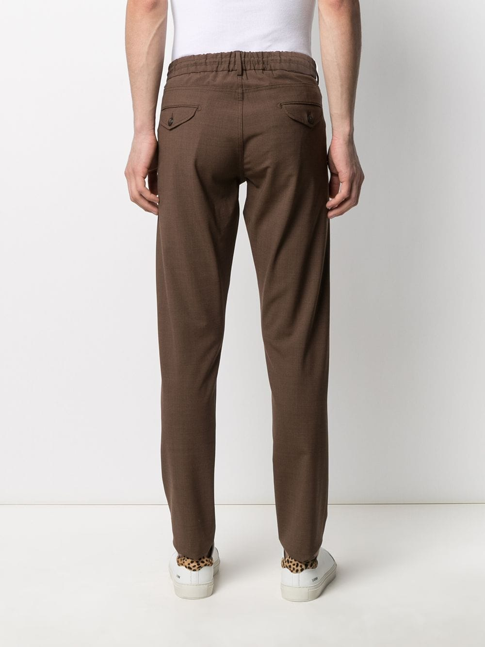 Brown wool blend drawstring tailored trousers  ELEVENTY |  | C75PANB21-TES0A05305