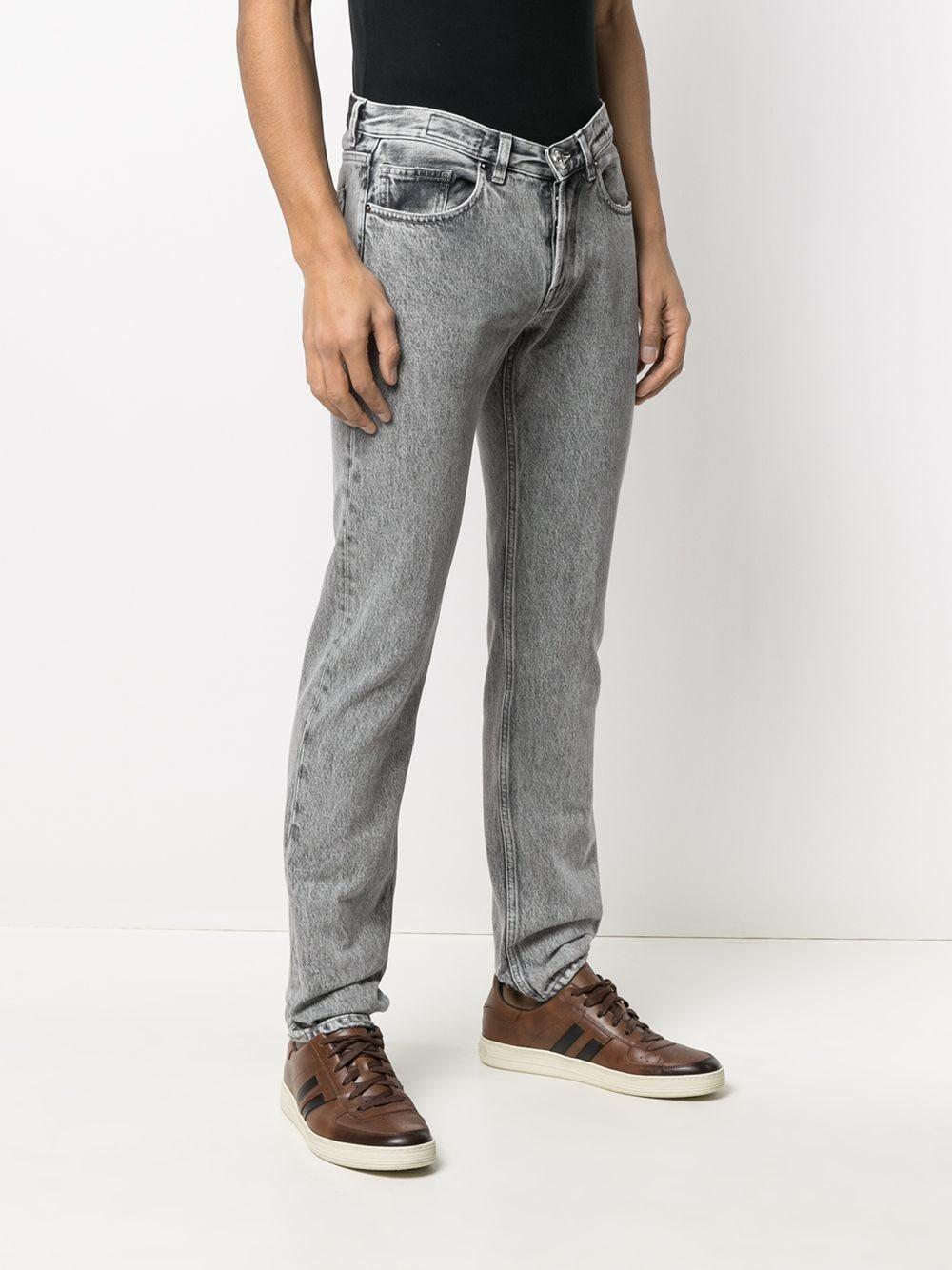 Jeans a gamba dritta in cotone grigio effetto consumato ELEVENTY | Pantaloni | C75PANC06-TET0C01506