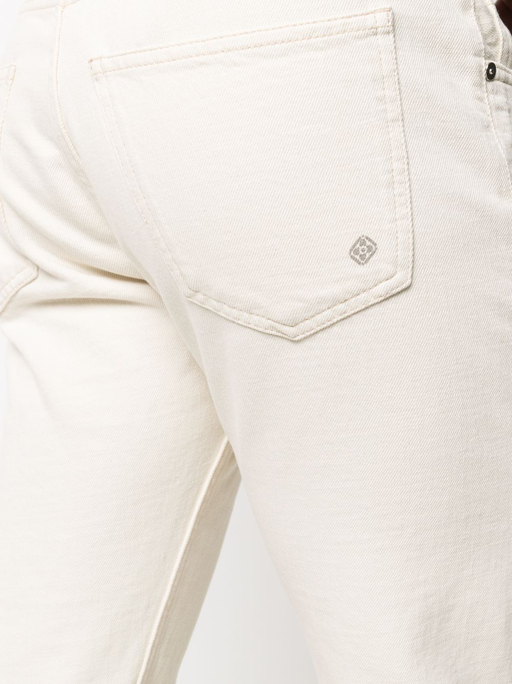 Jeans a gamba dritta in cotone bianco sporco ELEVENTY | Jeans | C75PANC06-TET0C01700