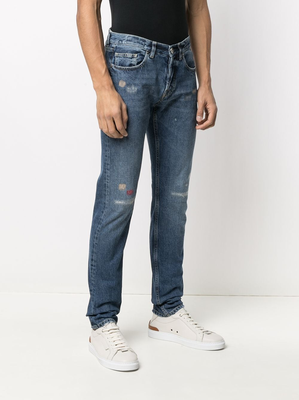Blue cotton distressed effect skinny jeans ELEVENTY |  | C75PANC07-TET0C02511