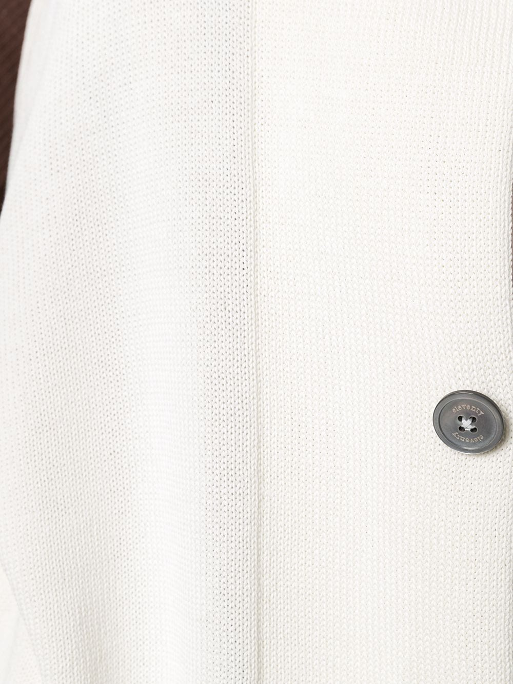White cotton stand-up collar cotton cardigan featuring contrasting trim ELEVENTY |  | C76MAGC30-MAG0A00101