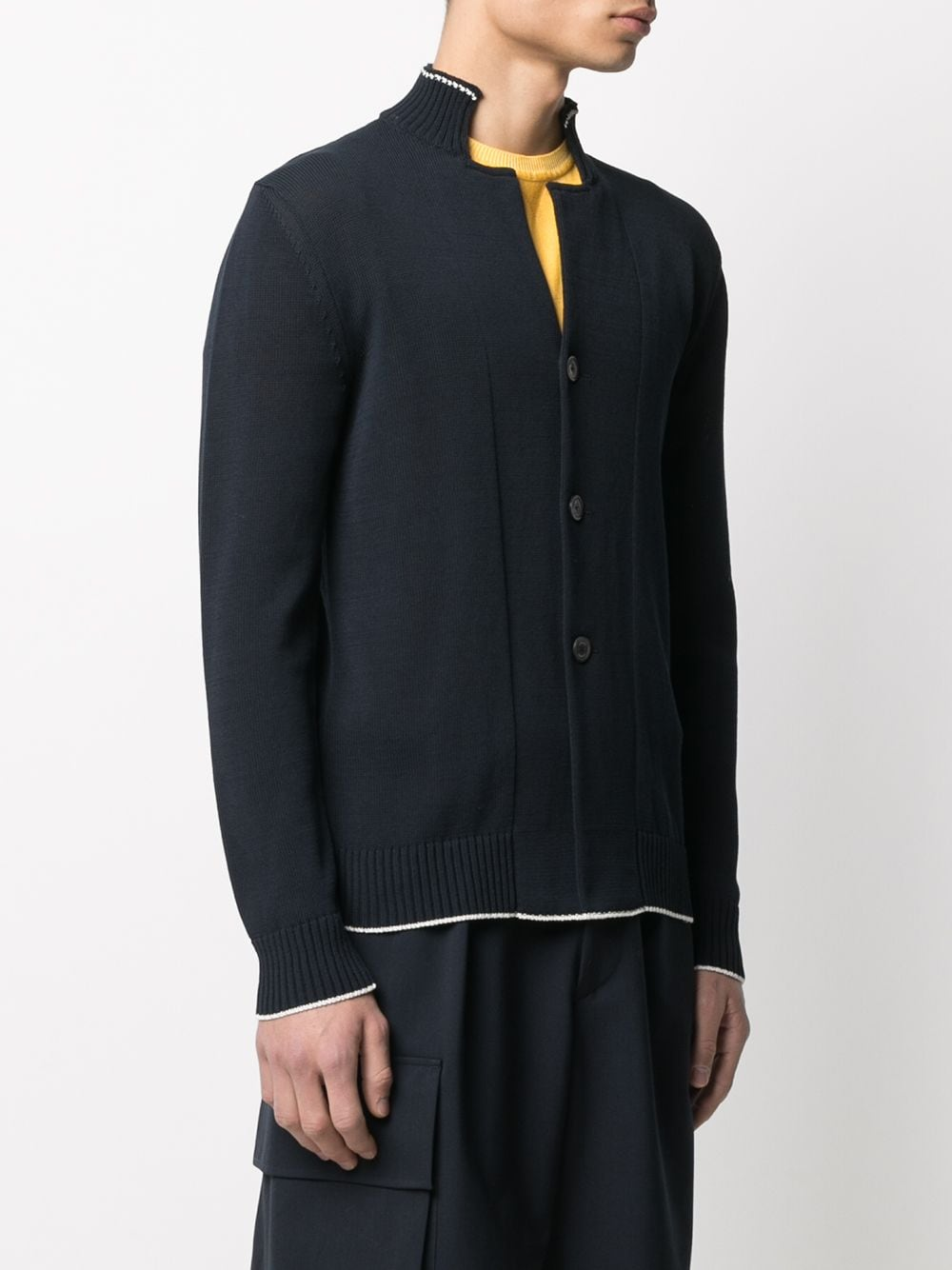 Navy blue cotton stand-up collar cardigan ELEVENTY |  | C76MAGC30-MAG0A00111