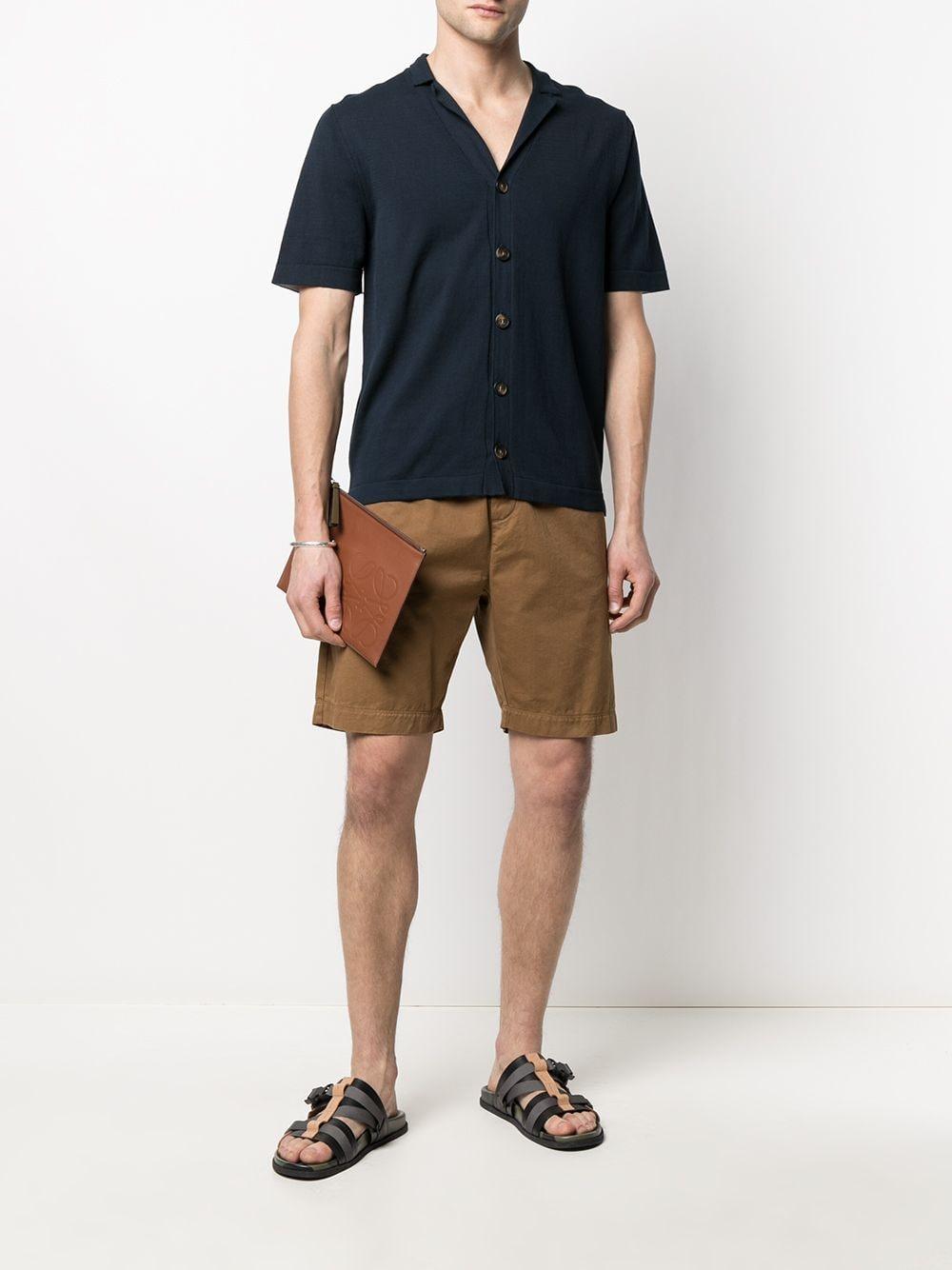Camicia in maglia di cotone blu scuro con colletto alla francese ELEVENTY | Camicie | C76MAGC51-MAG0C05211