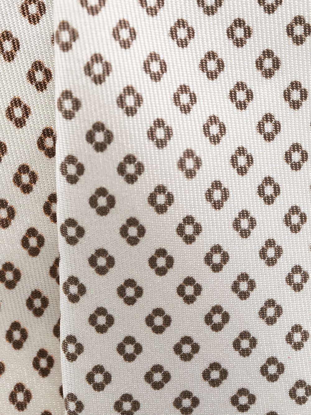 Cravatta beige di seta in fantasia floreale ELEVENTY | Cravatte | C77CRAA01-CRA0C02704