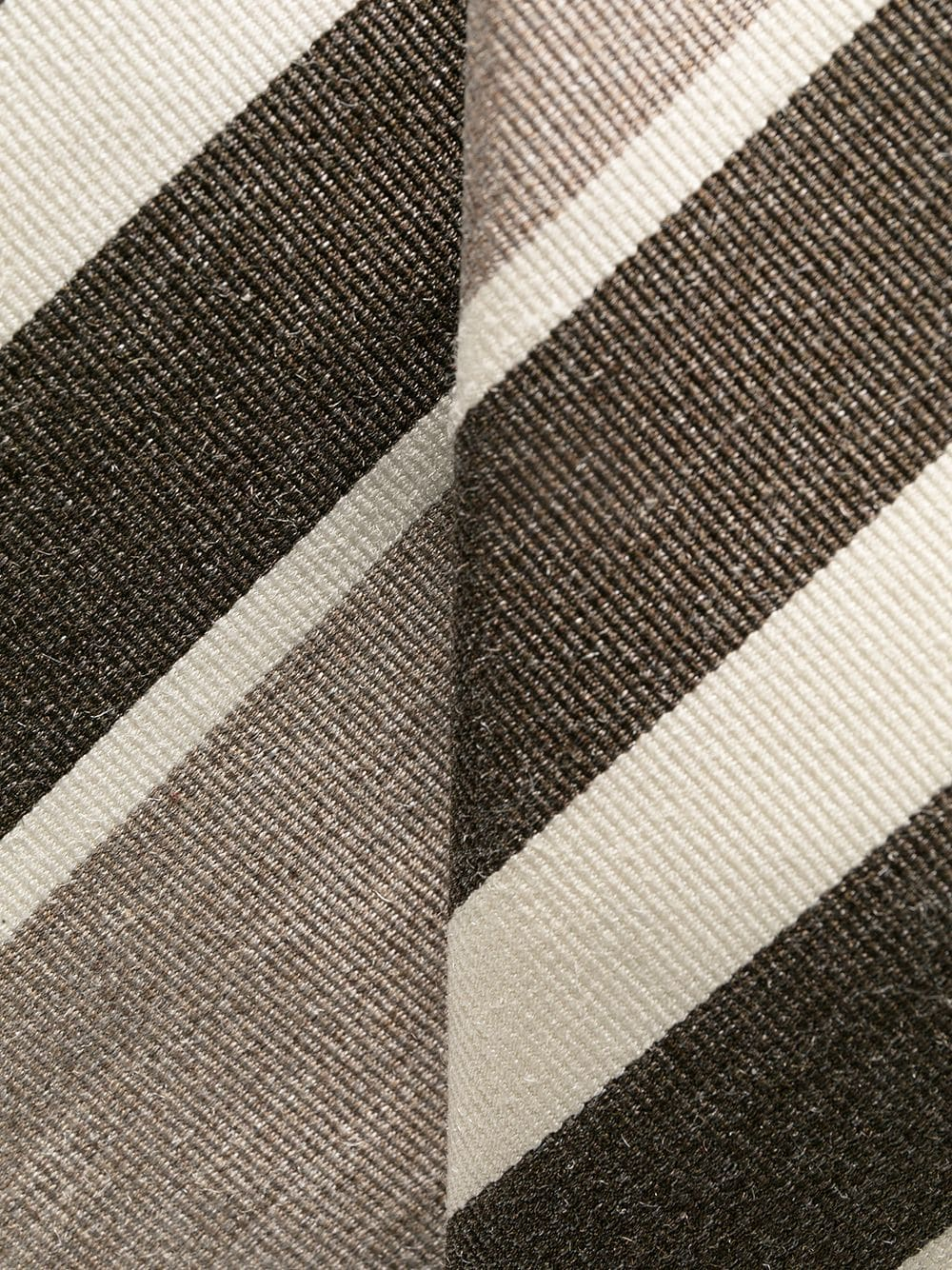 Tonal brown silk and cotton diagonal-stripe tie  ELEVENTY |  | C77CRAA01-CRA0C03003