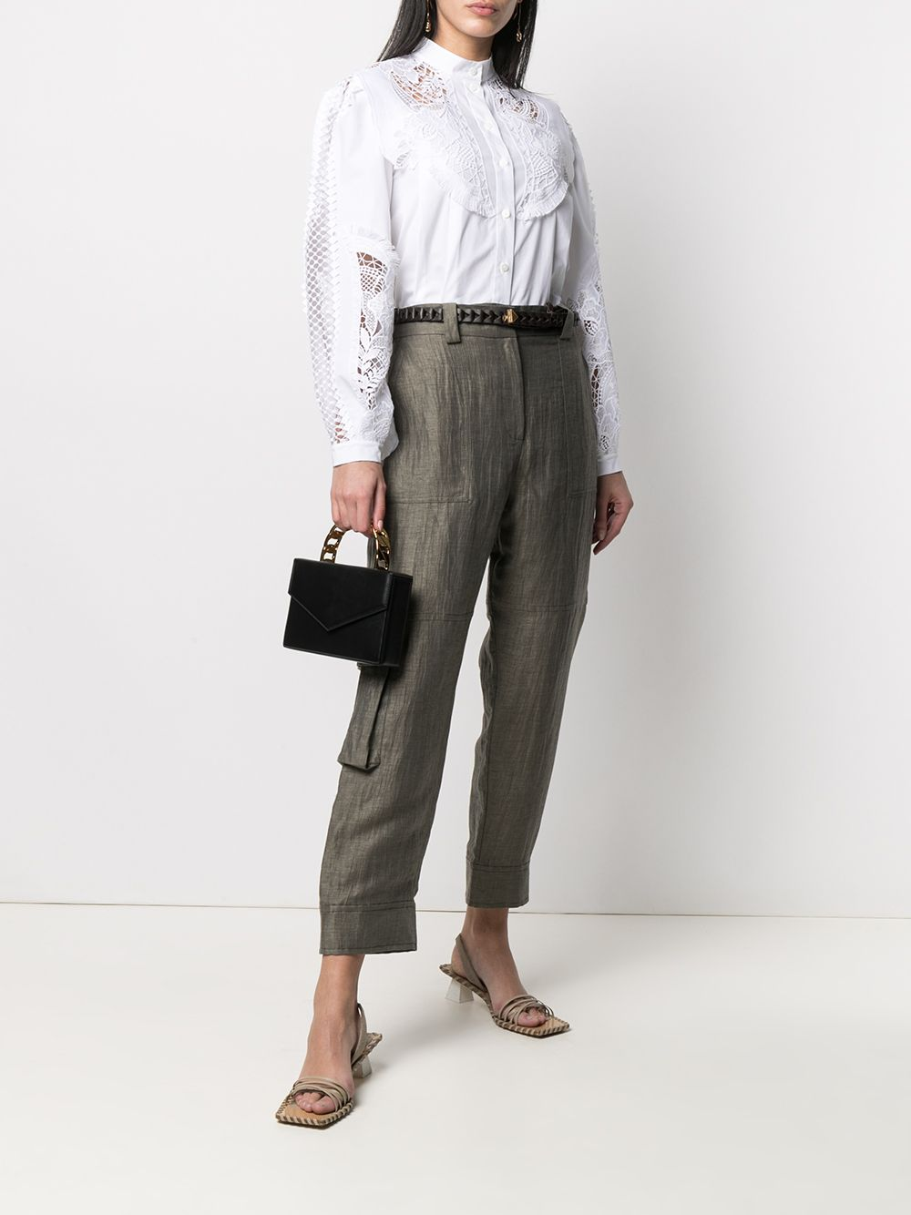 Military green linen tapered trousers  ELEVENTY |  | C80PANC03-TES0C13820