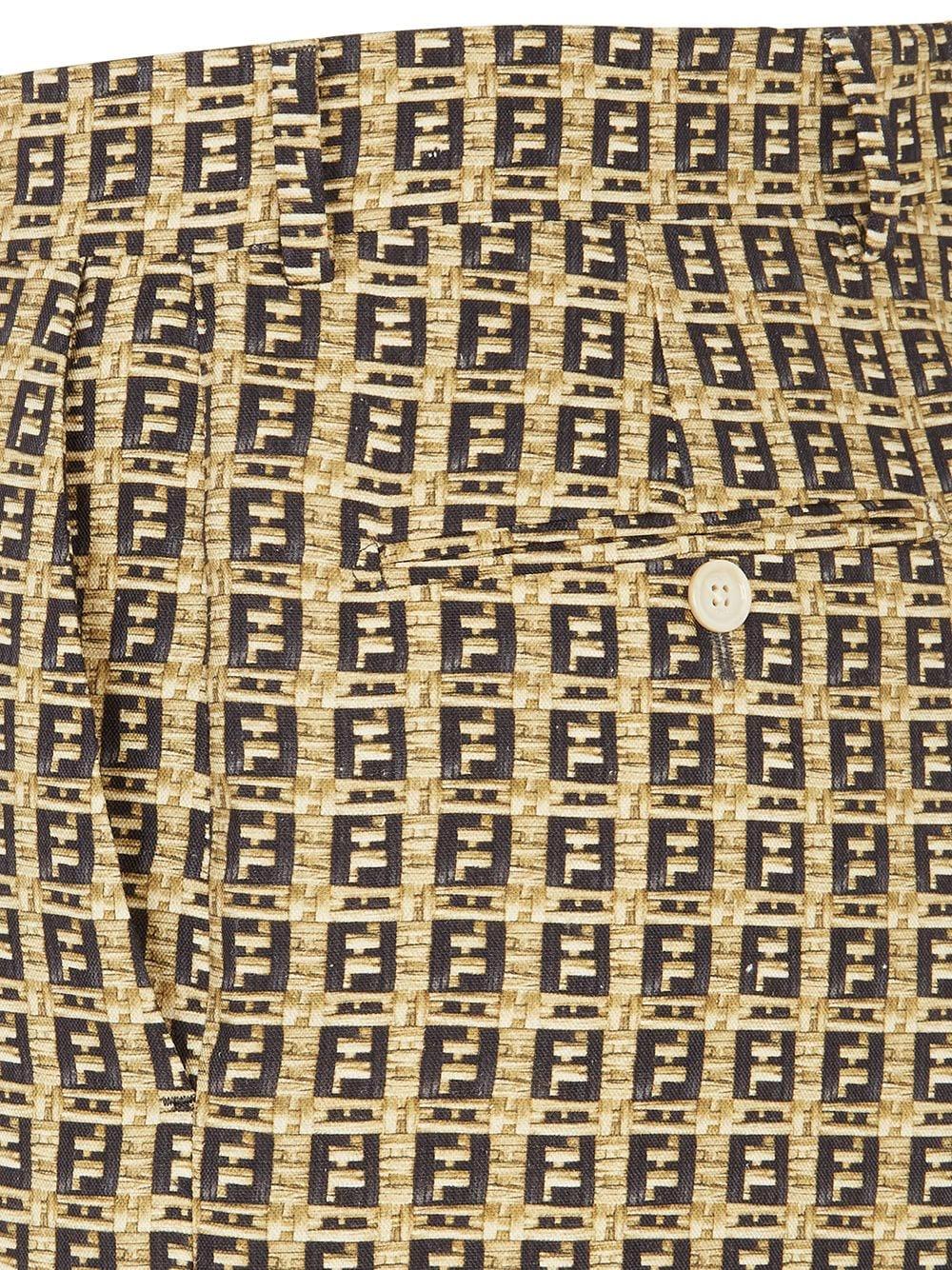 Beige and black FF shorts featuring interwoven design FENDI |  | FB0521-AFEIF0UNT