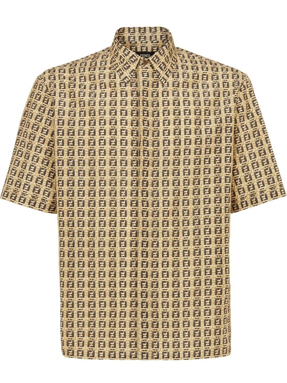 Beige FF print short-sleeved shirt  FENDI |  | FS0795-AFXEF0UNT