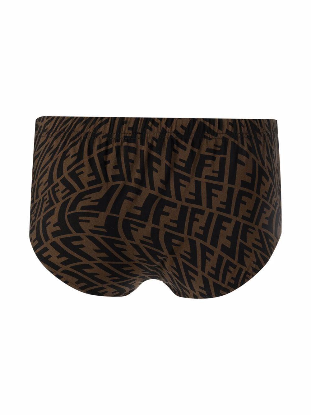 Brown and black Fendi Vertigo swimming briefs   FENDI      FXB076-AGBLF0QT2