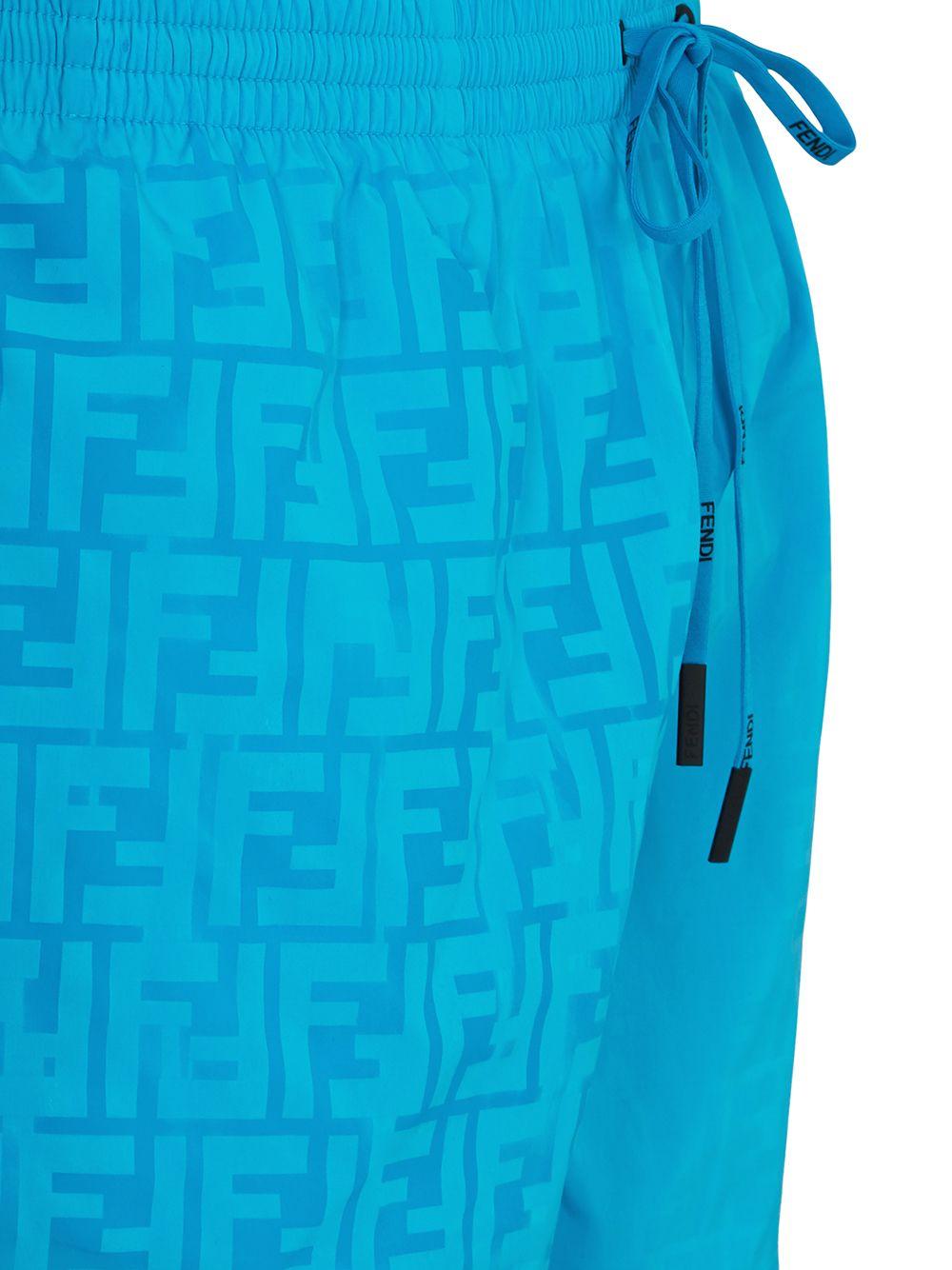 Cyan blue FF-print swim shorts  FENDI |  | FXB077-AGBRF1DO8