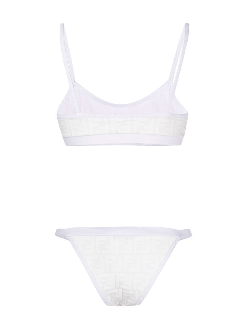 bikini bianco con motivo FF FENDI | Costumi | FXBH95-AES6F0C00