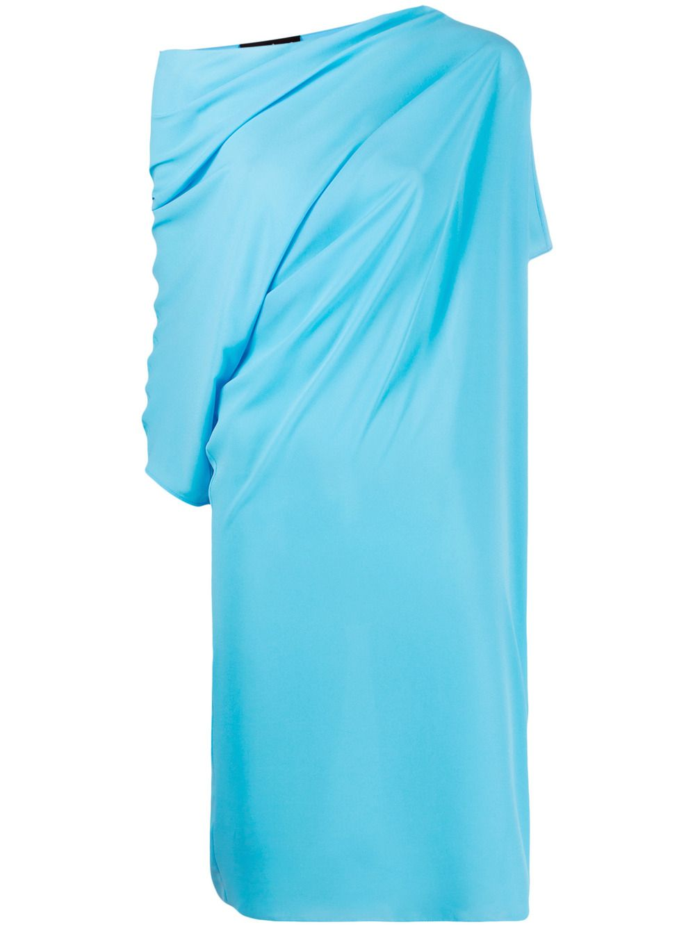 Abito blu drappeggiato con maniche asimmetriche e dettagli arricciati GIANLUCA CAPANNOLO | Abiti | 21EA1167-250 MAJA267