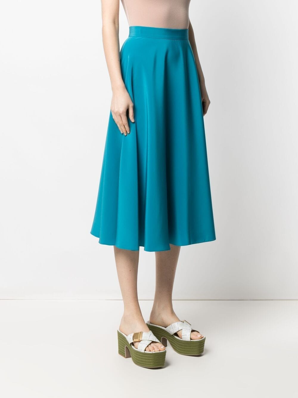 Turquoise blue Louise flared skirt  GIANLUCA CAPANNOLO |  | 21EP403-300 LOUISE649