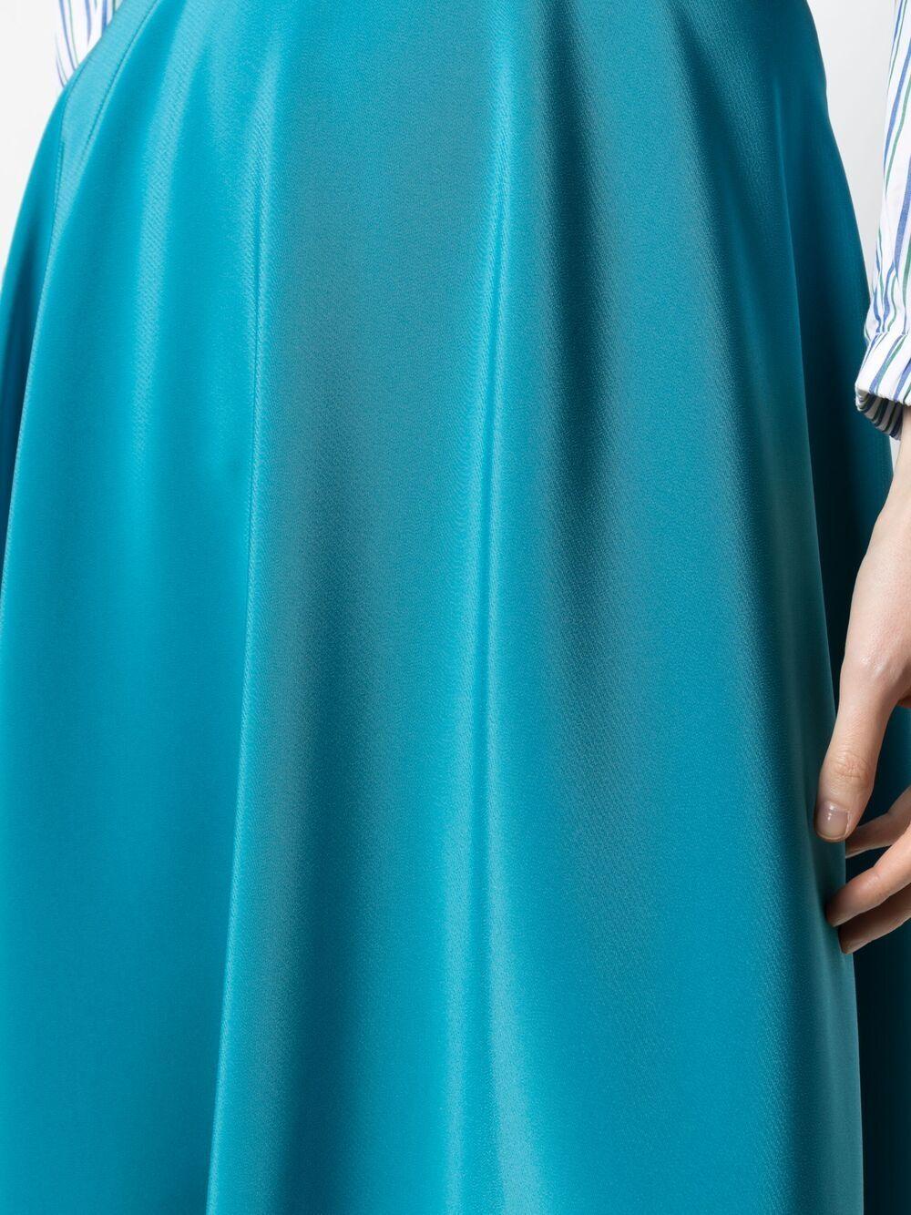 Gonna blu turchese Louise svasata a vita alta GIANLUCA CAPANNOLO | Gonne | 21EP403-300 LOUISE649