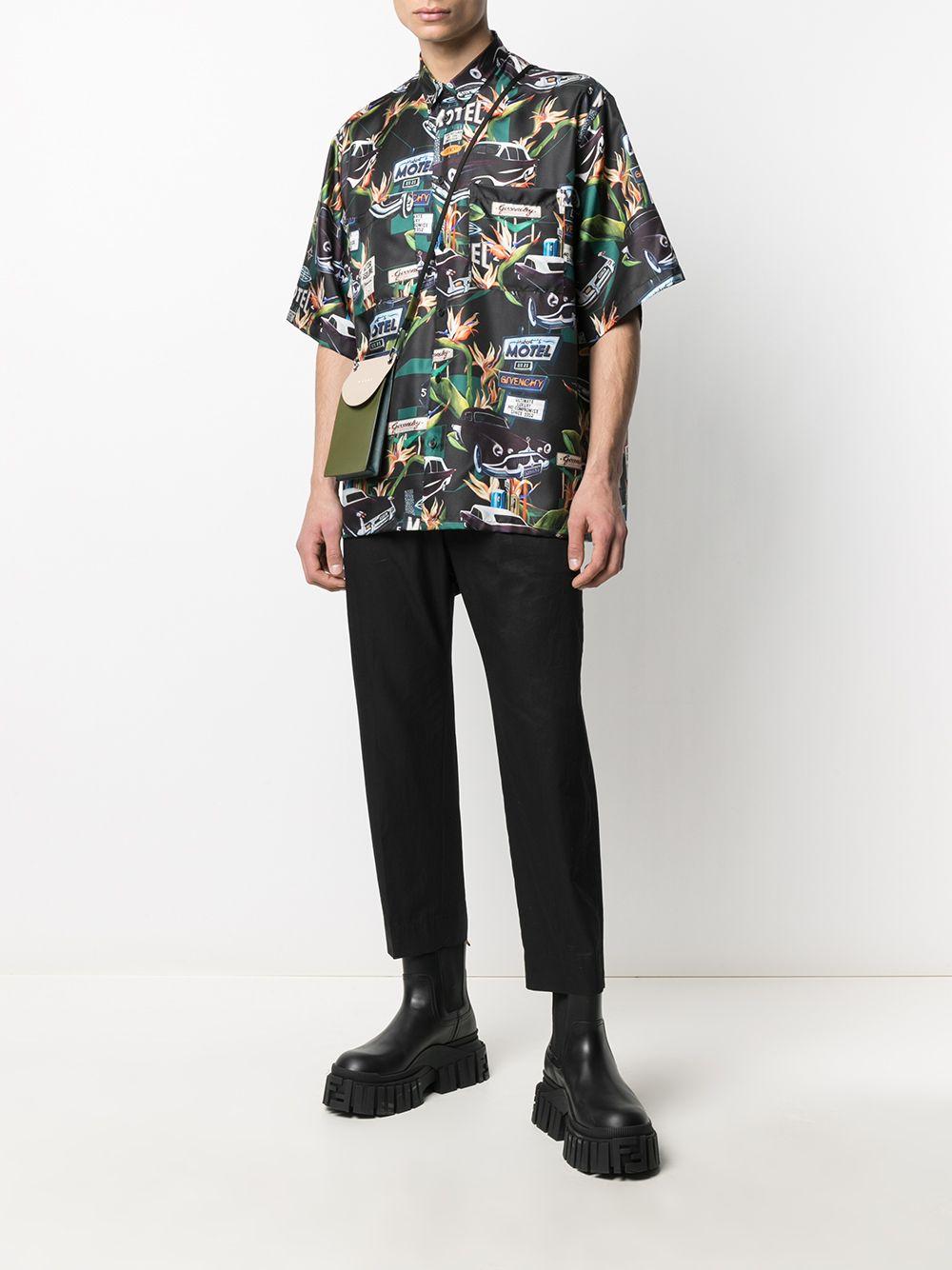 Black and green silk Motel shirt  GIVENCHY |  | BM60NT13K4013