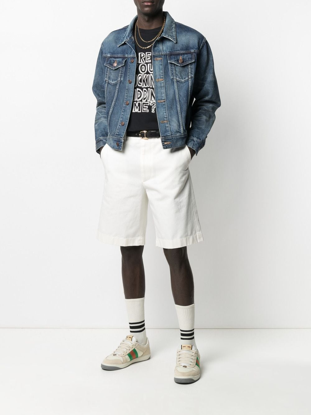 White cotton bermuda shorts  GUCCI |  | 639388-ZAF8C9733