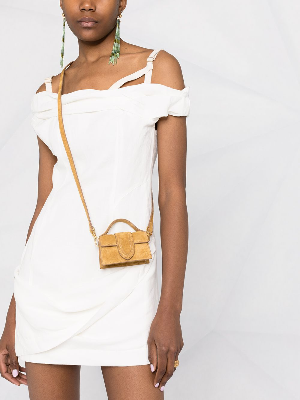 White and ecru cotton and linen minidress  JACQUEMUS |  | 211DR22-111110