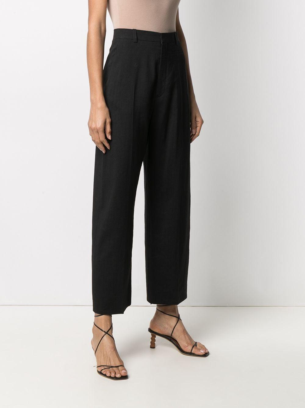 Pantaloni neri Le Pantalon Santon in cotone e lana vergine con vita alta JACQUEMUS   Pantaloni   211PA02-103990