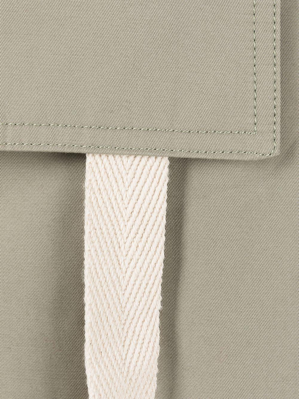 Pantaloni cargo Le pantalon Alzu in cotone verde e panna con due tasche cargo laterali JACQUEMUS | Pantaloni | 215PA04-101530