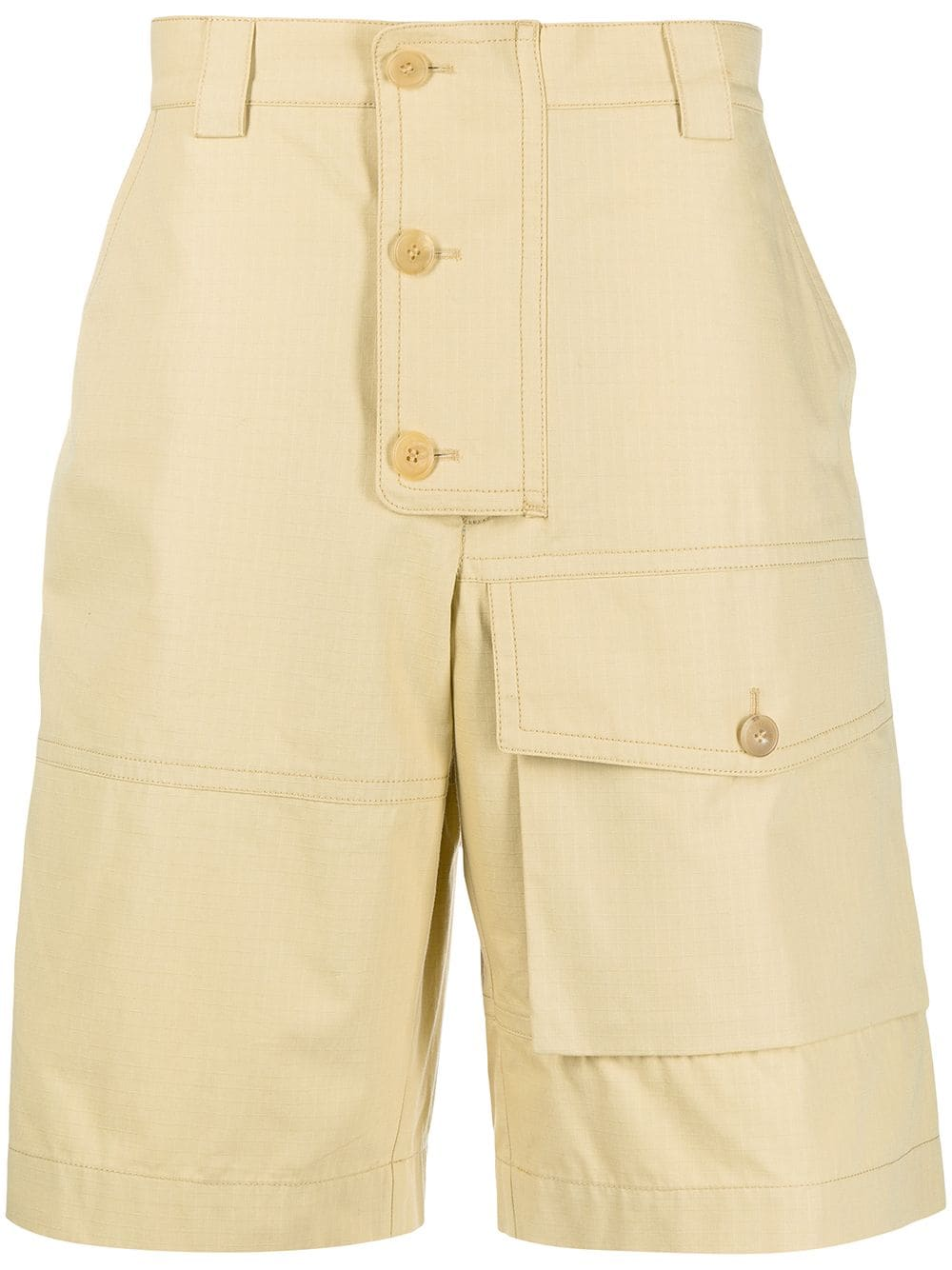Yellow cotton Laurier cargo shorts  JACQUEMUS |  | 215PA08-107230